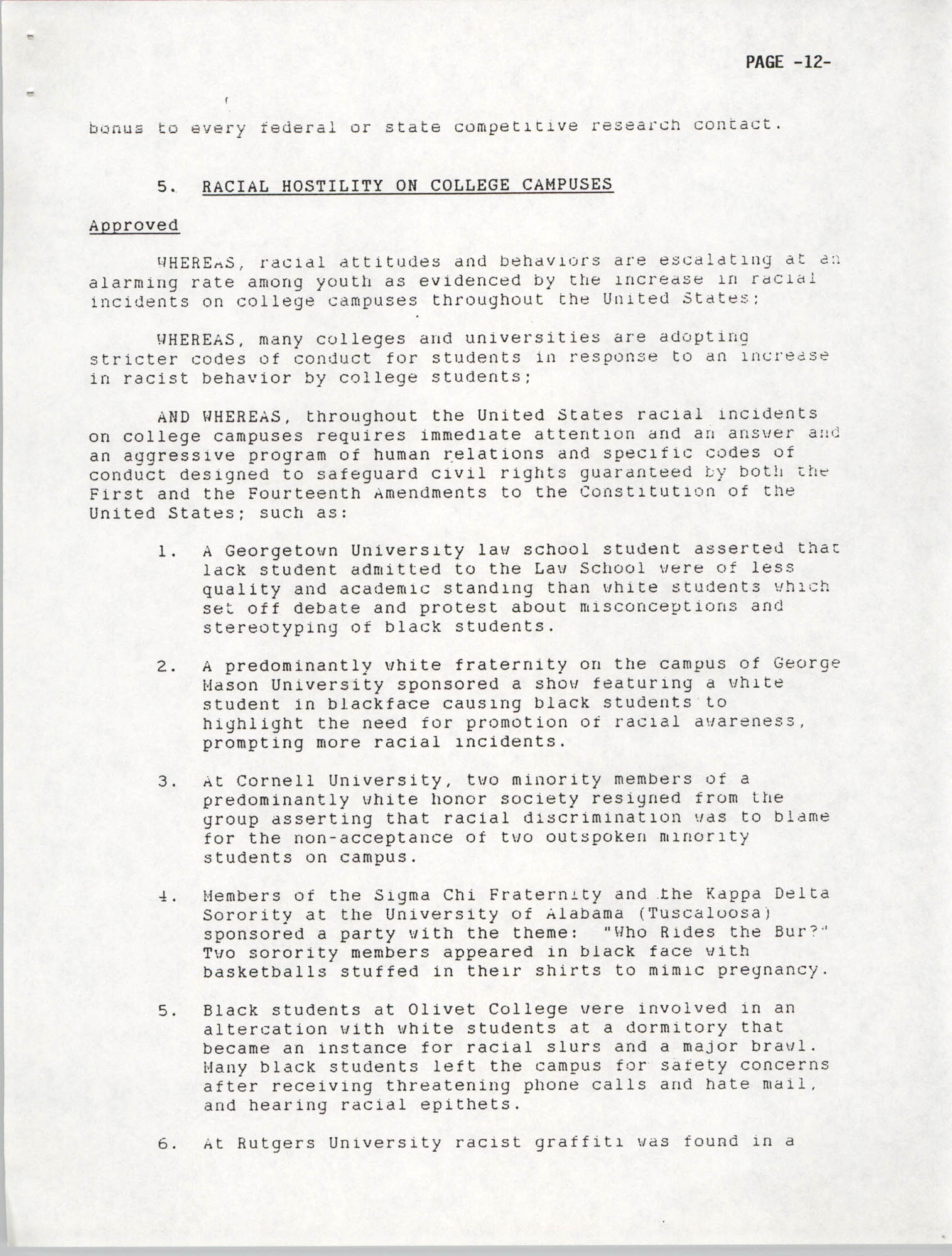 Resolutions Submitted Under Article X, Section 2 of the Constitution of the NAACP, 1992, Page 12