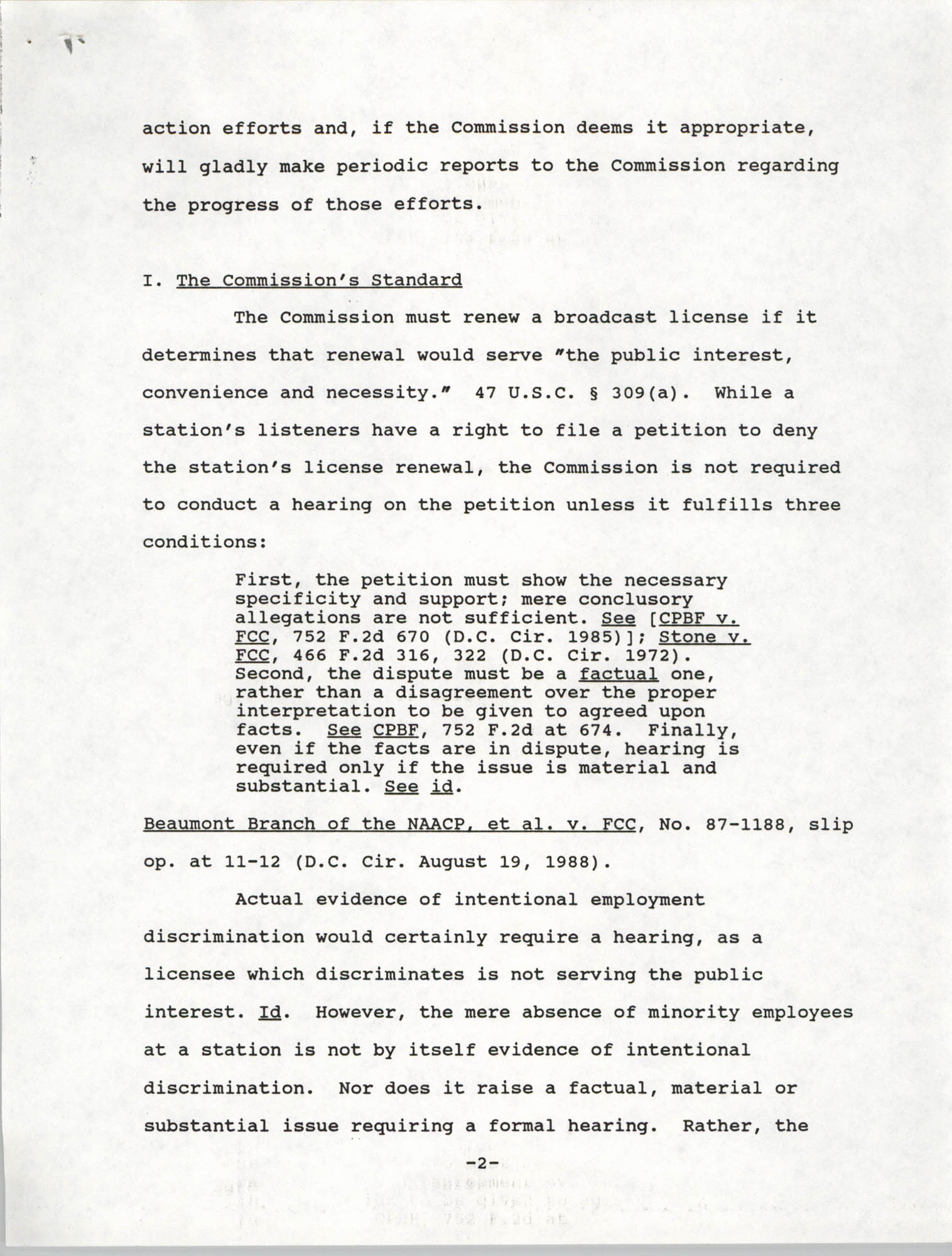 Federal Communications Commission In the Matter of Cordes Street Communications, Inc., Page 2