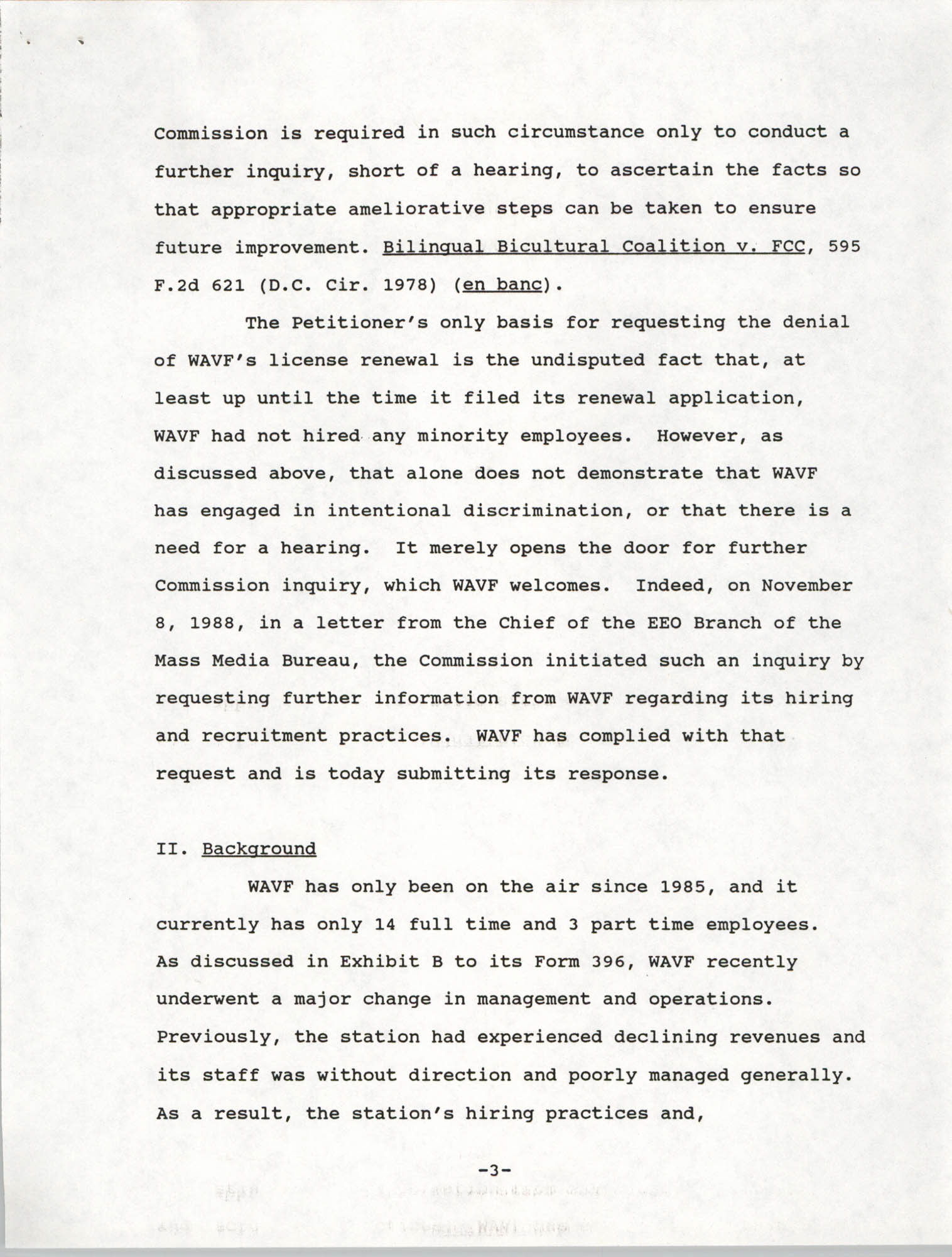 Federal Communications Commission In the Matter of Cordes Street Communications, Inc., Page 3