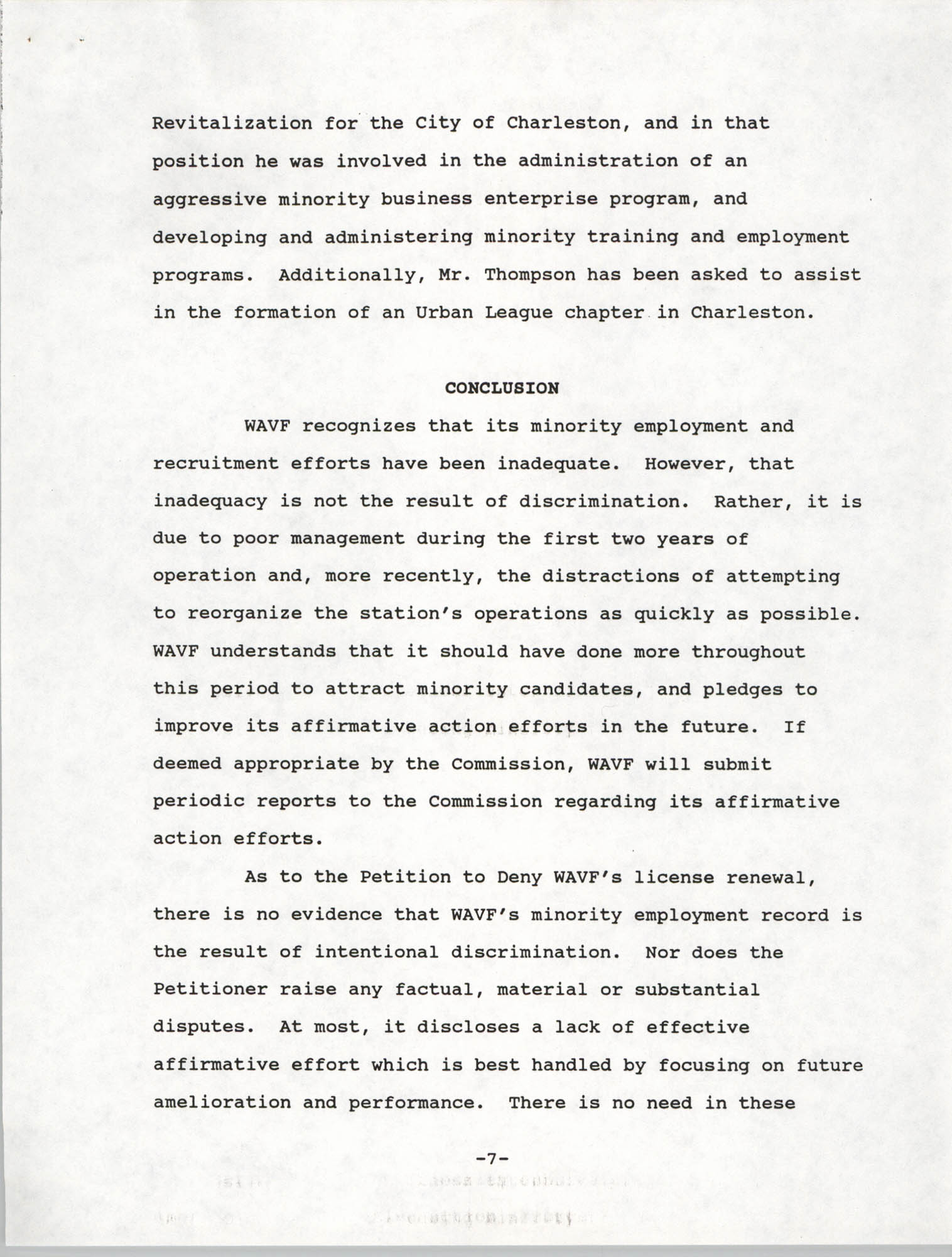 Federal Communications Commission In the Matter of Cordes Street Communications, Inc., Page 7