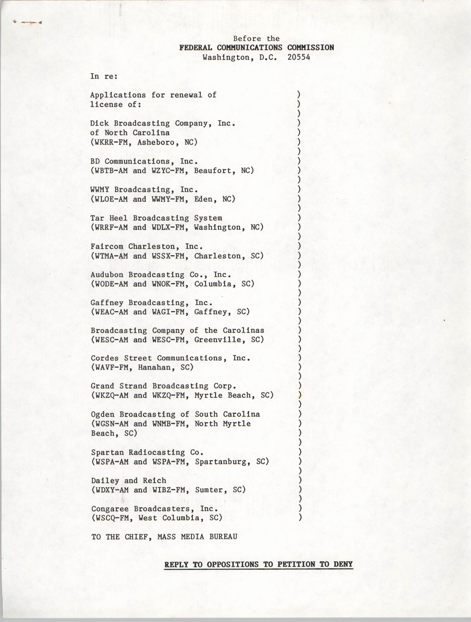 Federal Communications Commission Certificate of Service, Page 2