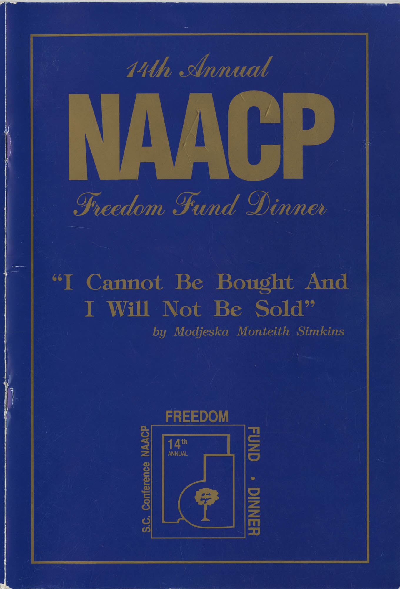 14th Annual NAACP Freedom Fund Dinner, Front Cover Exterior