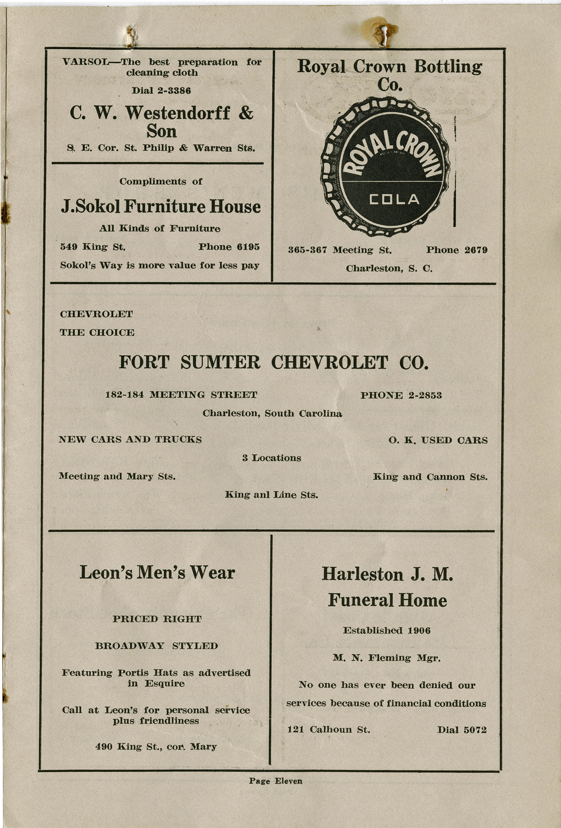 Program for a concert by The Southernaires, Page 10