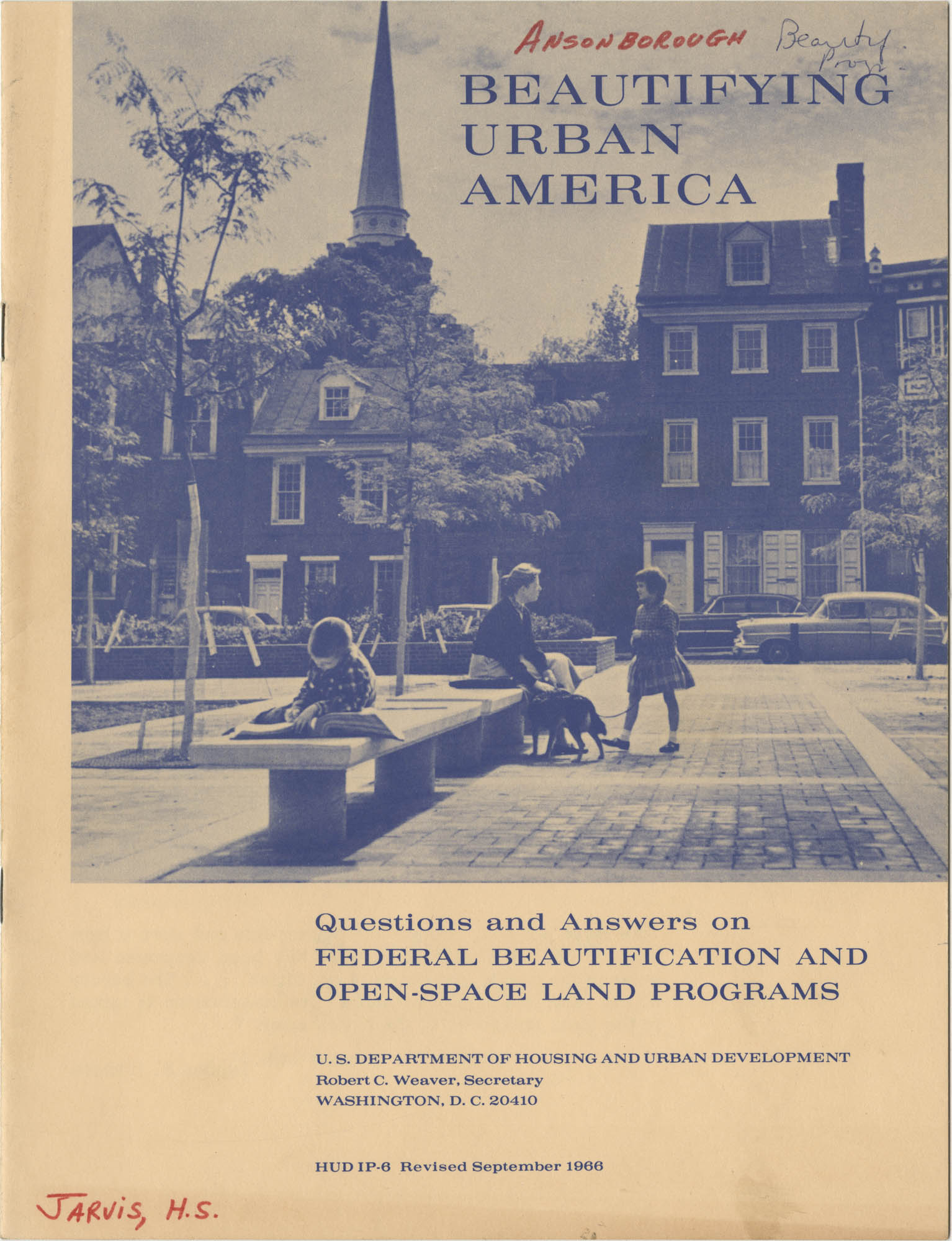 Beautifying Urban America, Front cover