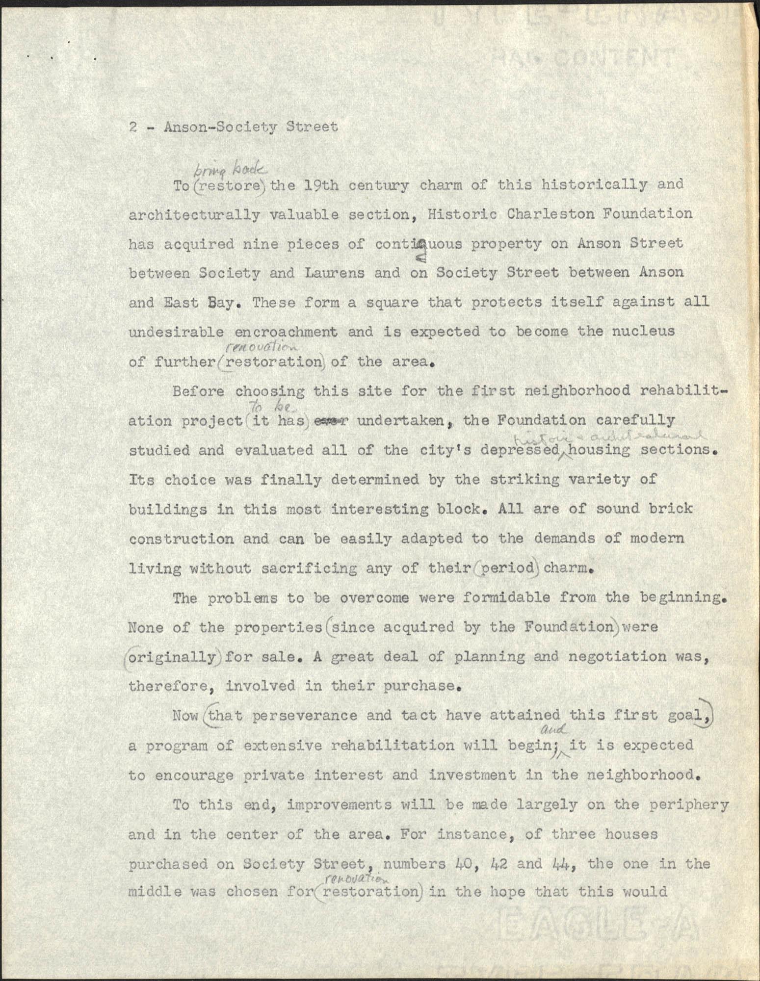 Anson-Society Street Rehabilitation, Page 2