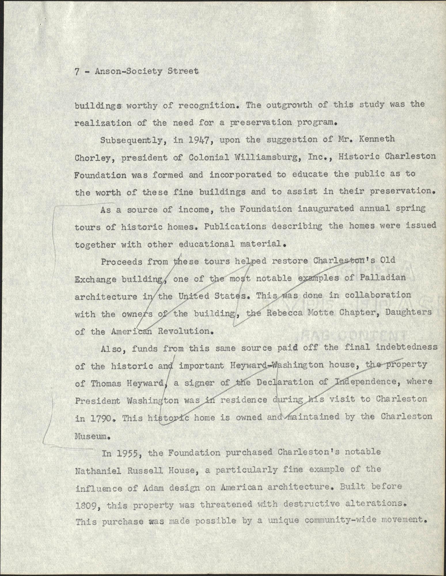 Anson-Society Street Rehabilitation, Page 7