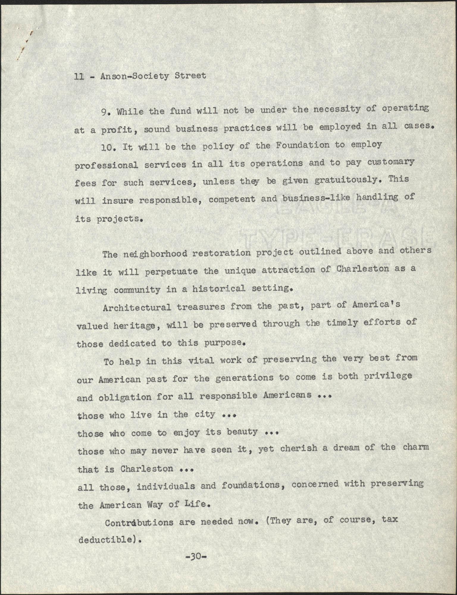Anson-Society Street Rehabilitation, Page 11