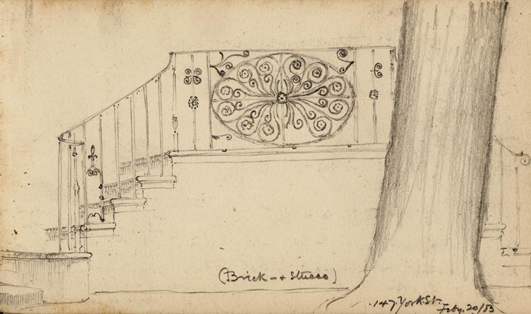 21. Steps and handrail leading to house