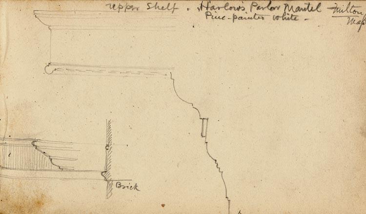 45. Harlow's parlor mantel