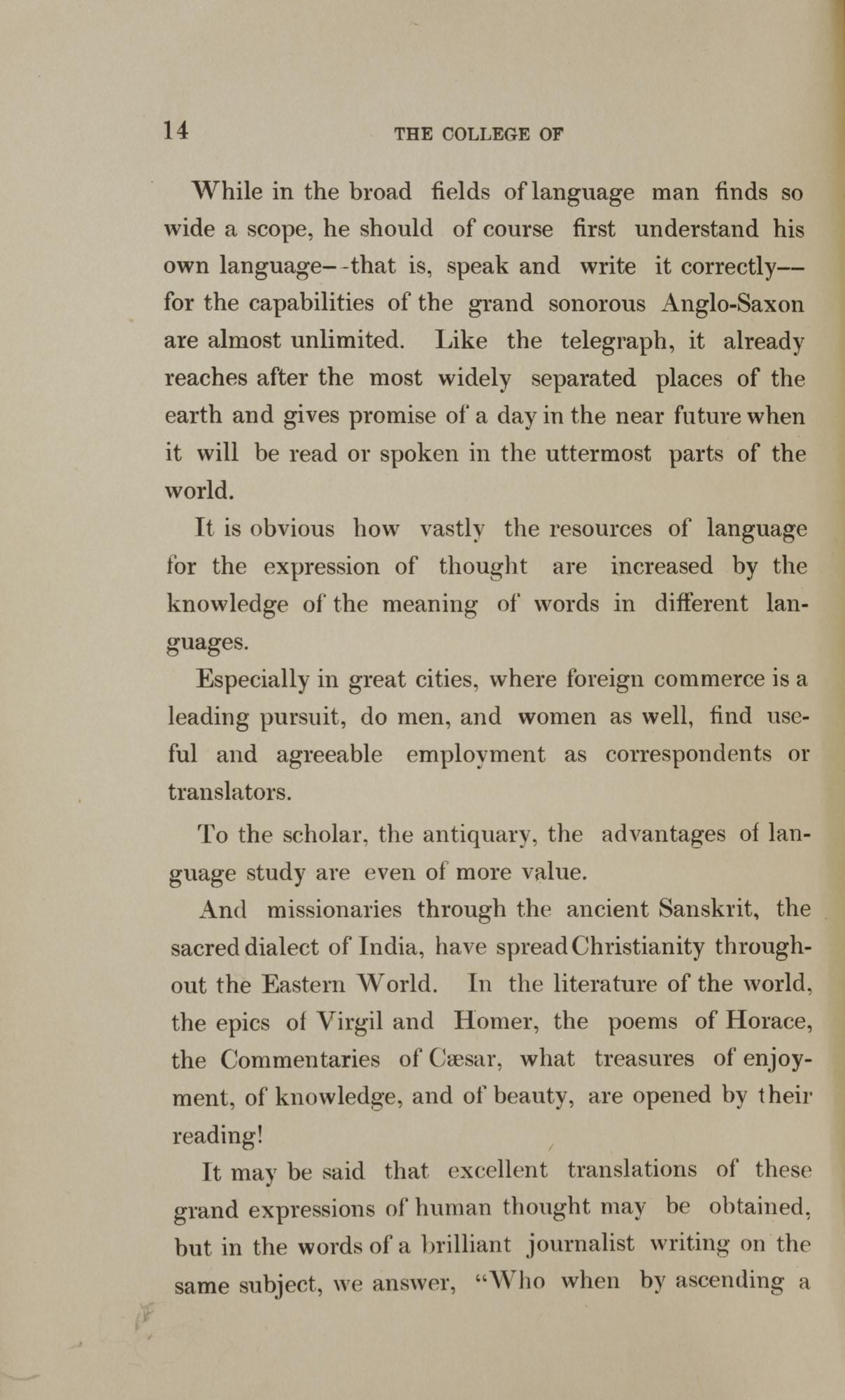 College of Charleston Magazine, 1898, Vol I. No. 1, page 14