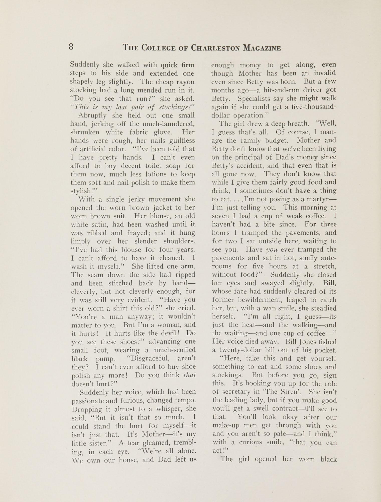 College of Charleston Magazine, 1937-1938, Vol. XXXXI No. 1, page 8