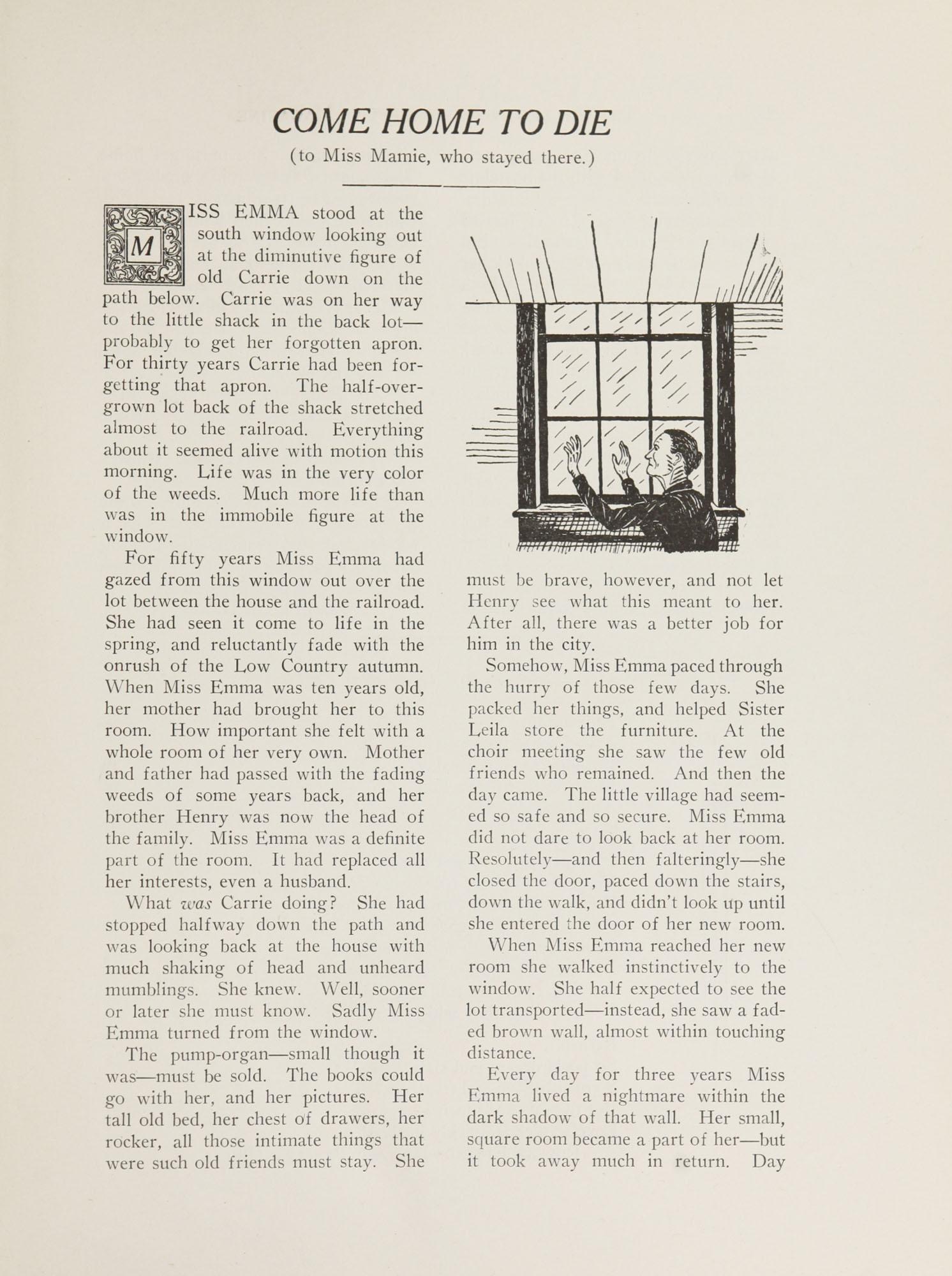 College of Charleston Magazine, 1937-1938, Vol. XXXXI No. 1, page 21