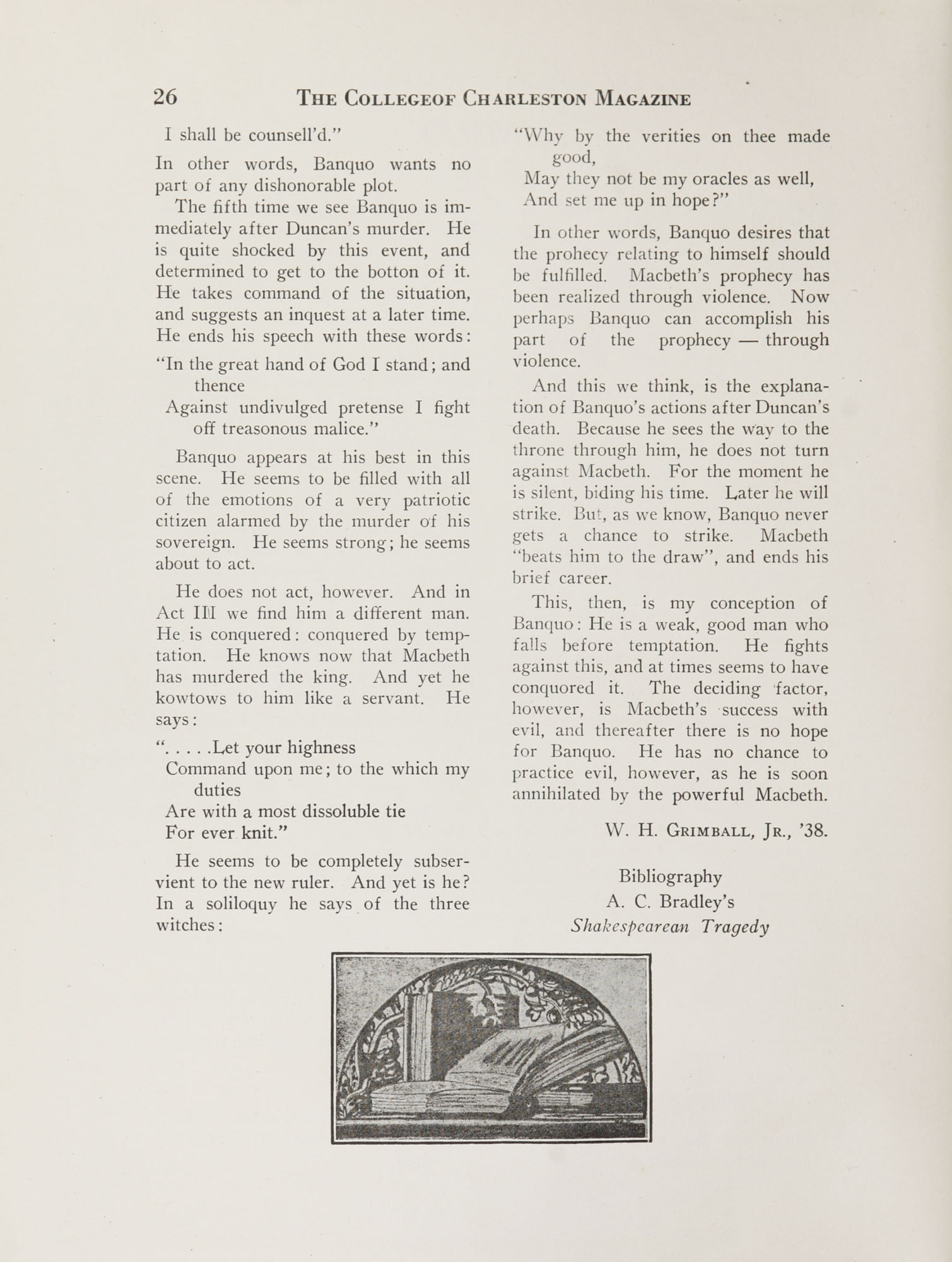 College of Charleston Magazine, 1937-1938, Vol. XXXXI No. 1, page 26