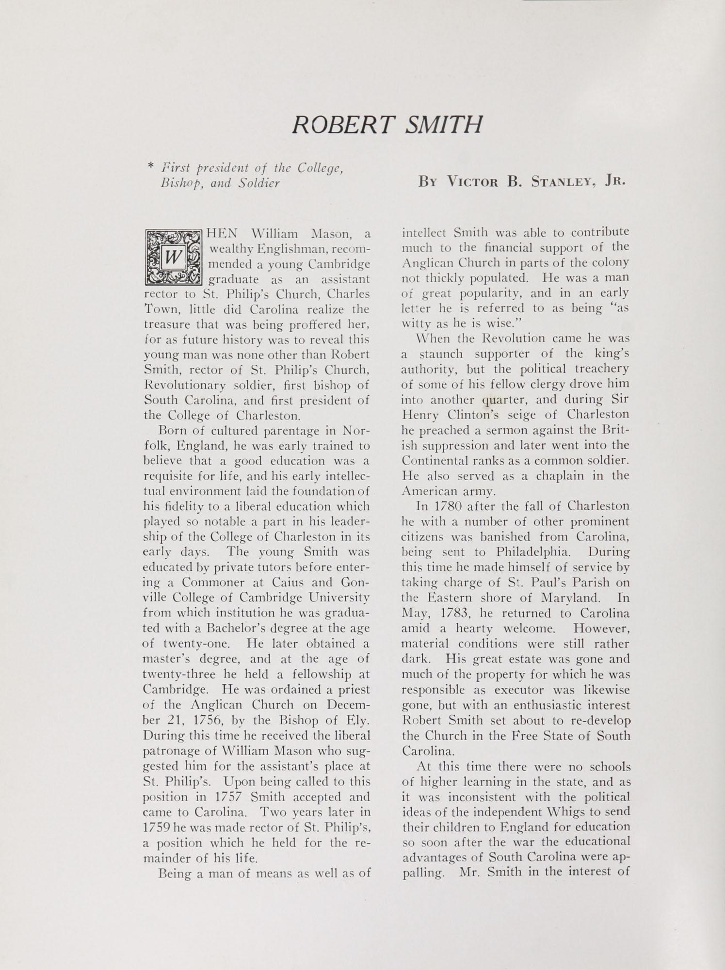 College of Charleston Magazine, 1938-1939, Vol. XXXXII No. 1, page 14