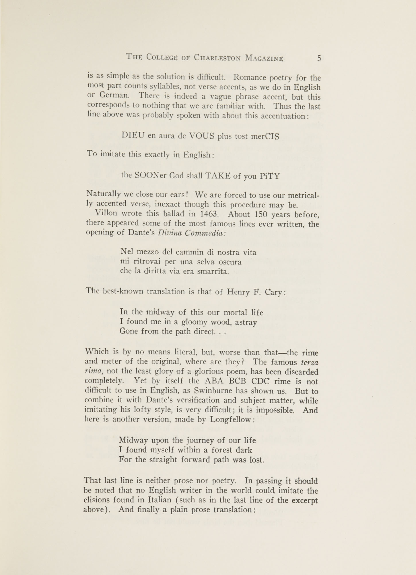 College of Charleston Magazine, 1941-1942, Vol. 45 No. 1, page 5