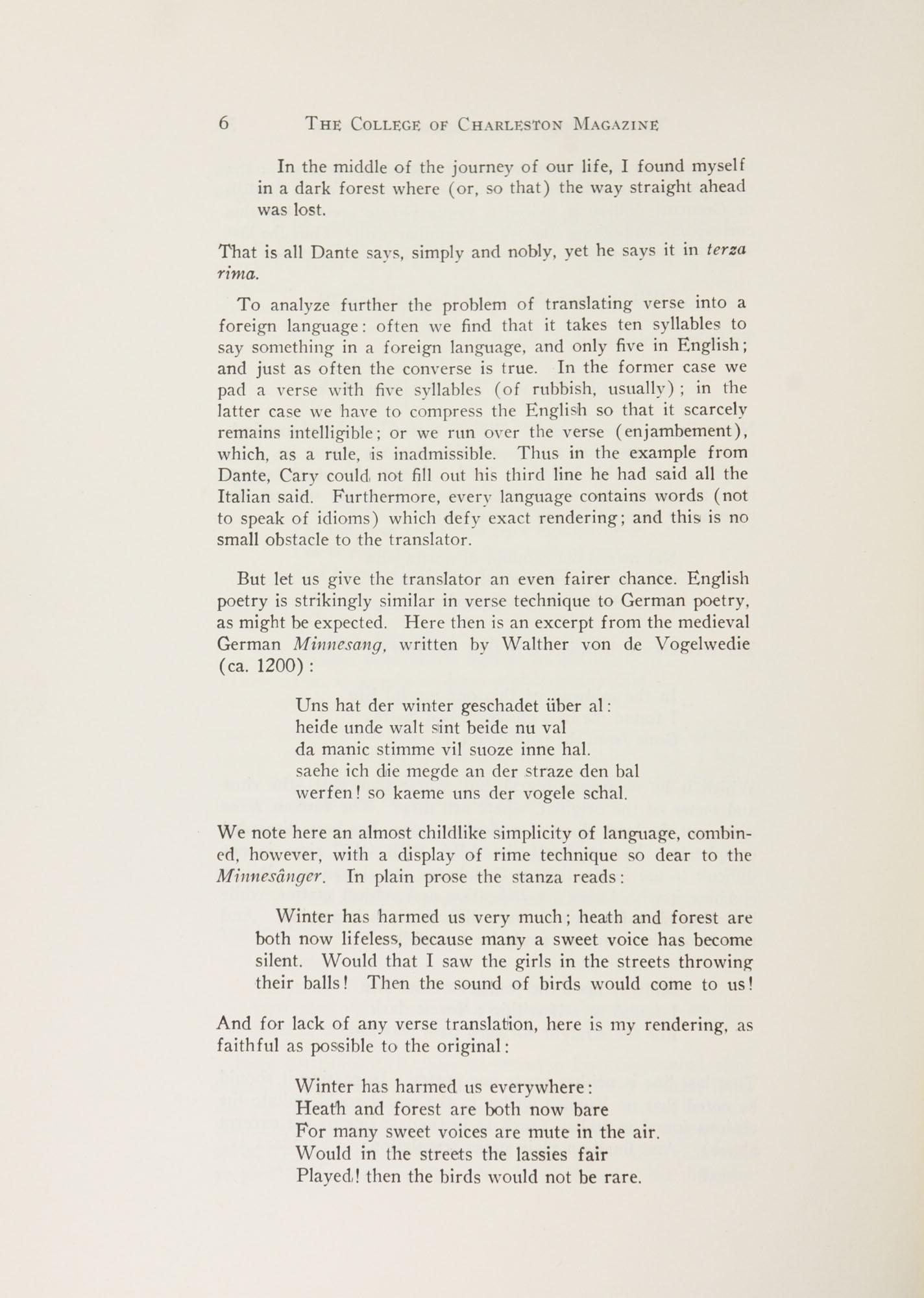 College of Charleston Magazine, 1941-1942, Vol. 45 No. 1, page 6