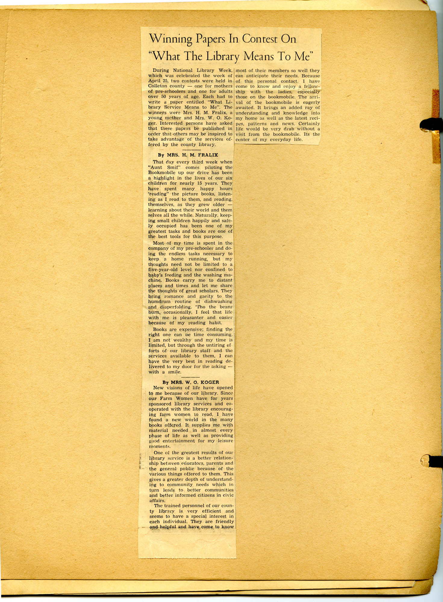 Report of National Library Week - 1965, Page 2