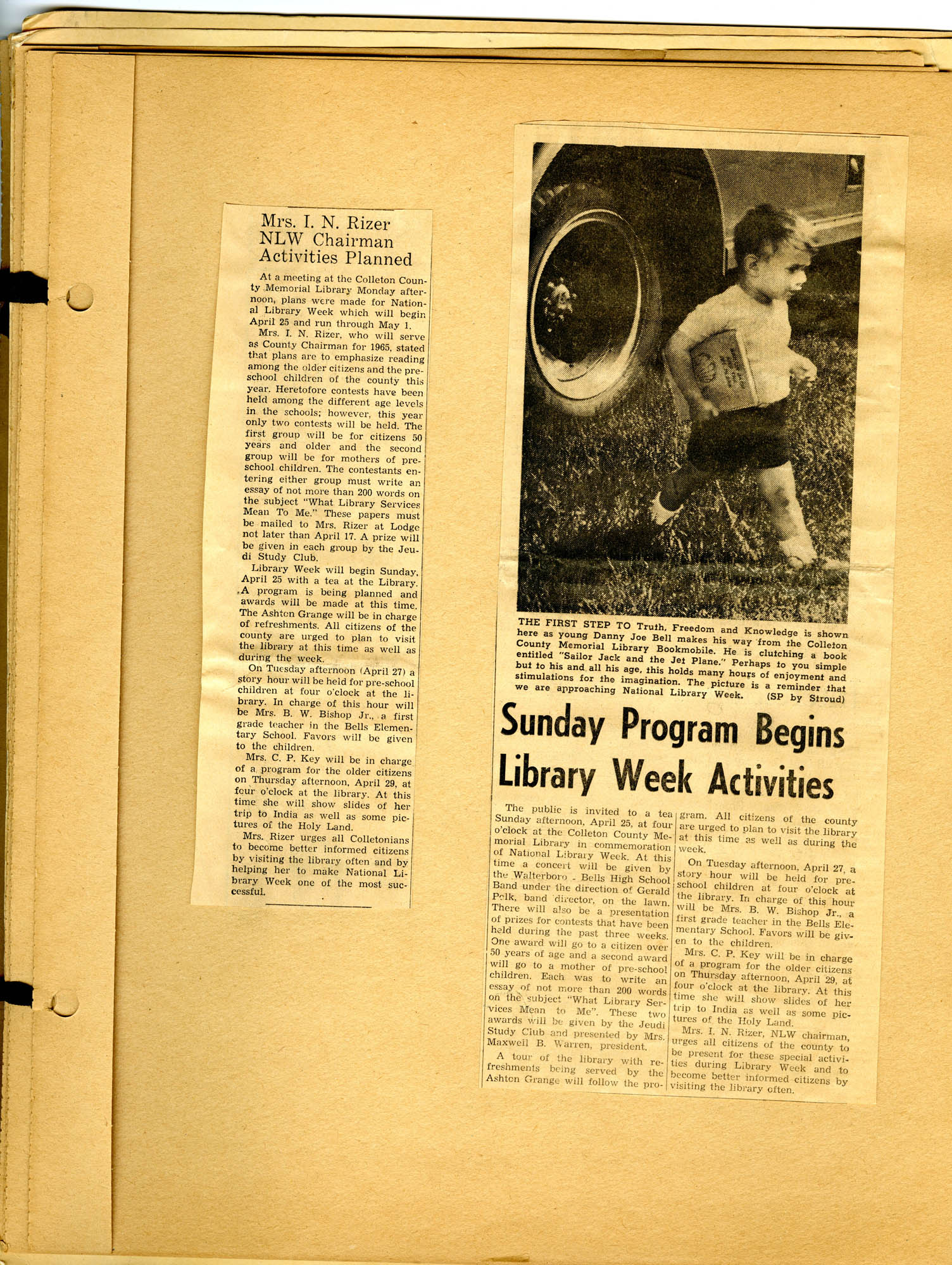 Report of National Library Week - 1965, Page 6