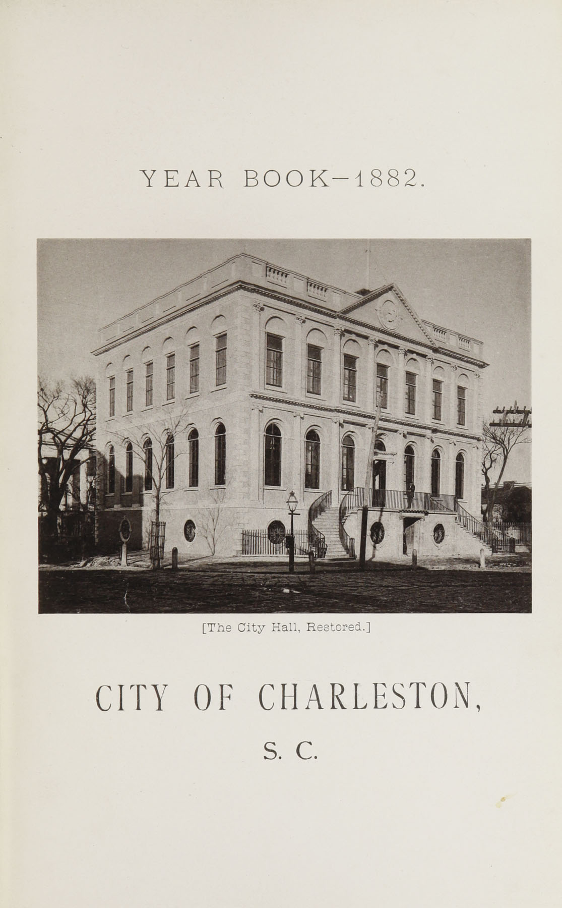 Charleston Yearbook, 1882, page i