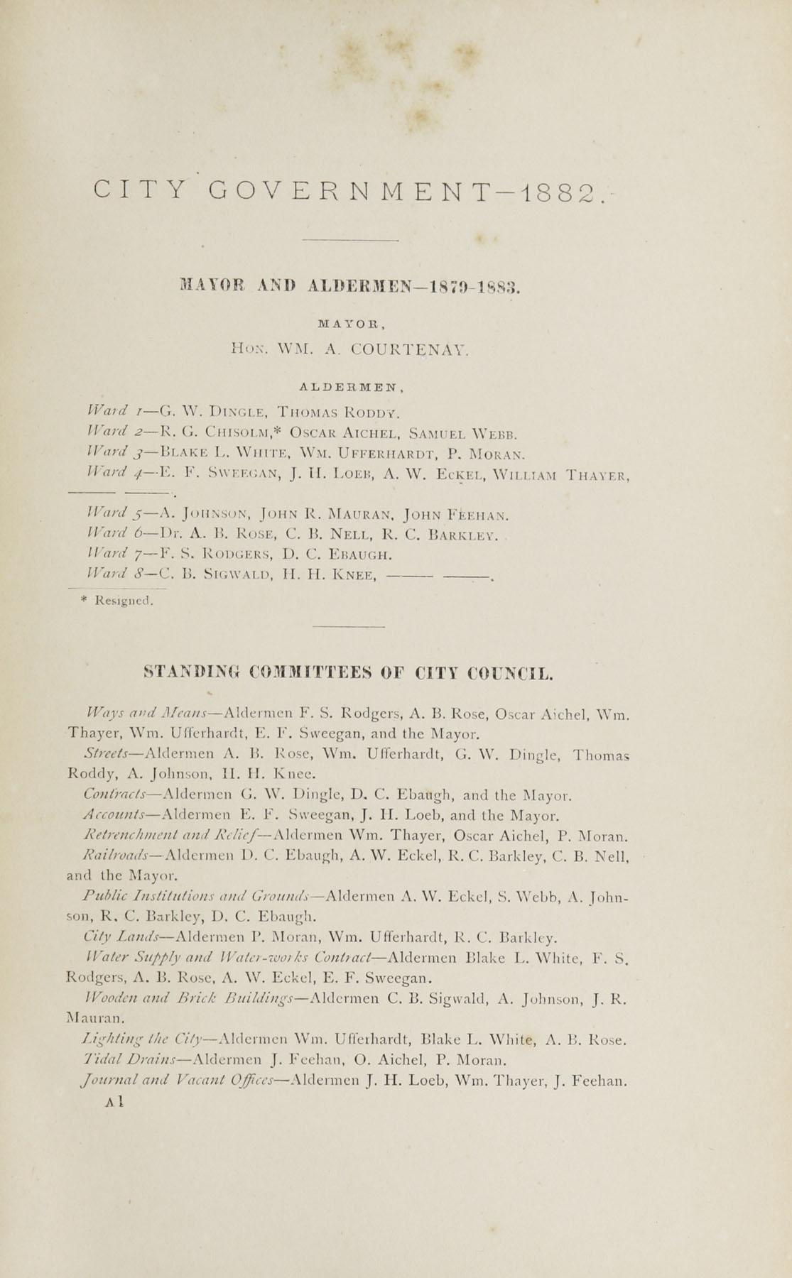Charleston Yearbook, 1882, page iii