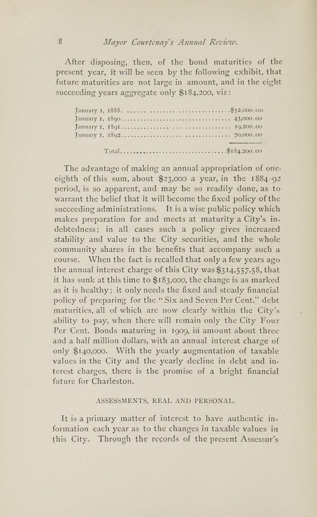 Charleston Yearbook, 1882, page 8