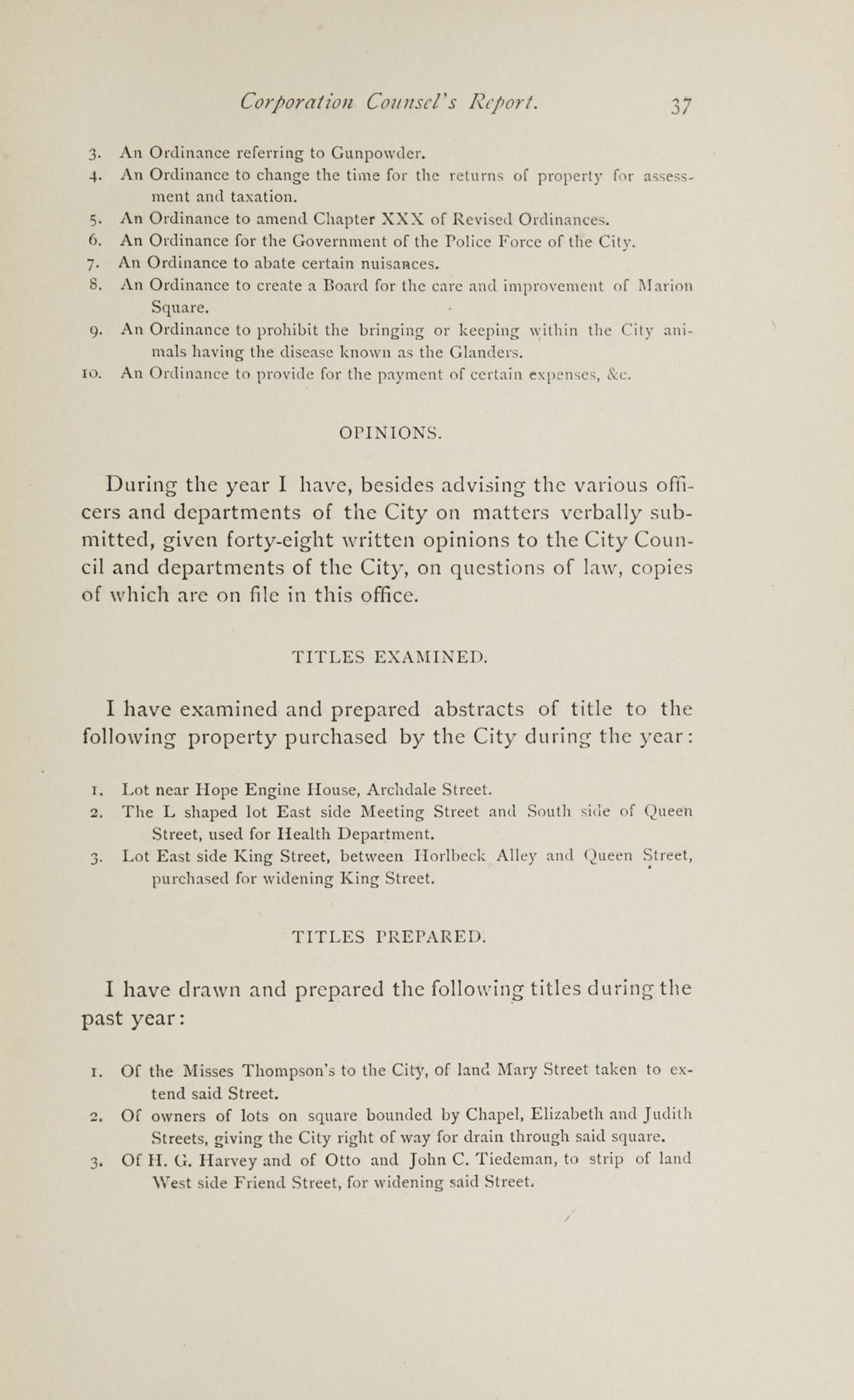 Charleston Yearbook, 1882, page 37
