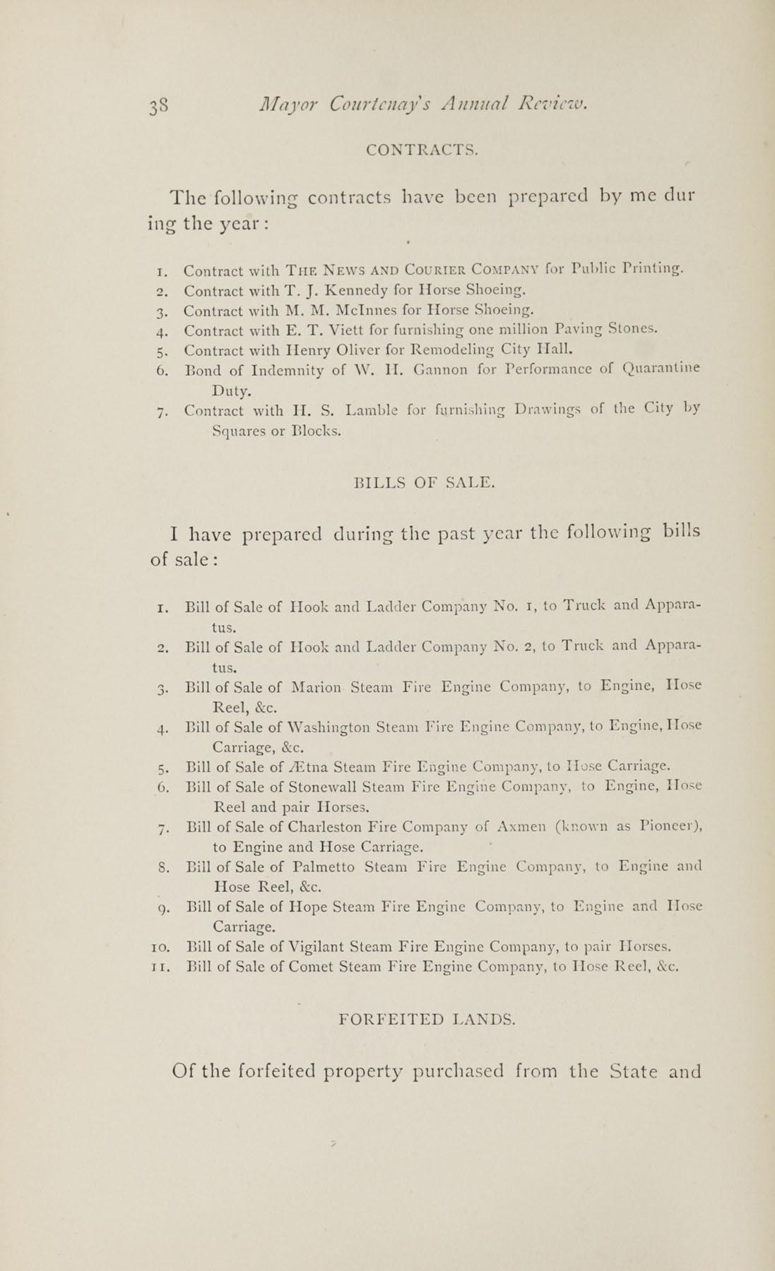 Charleston Yearbook, 1882, page 38
