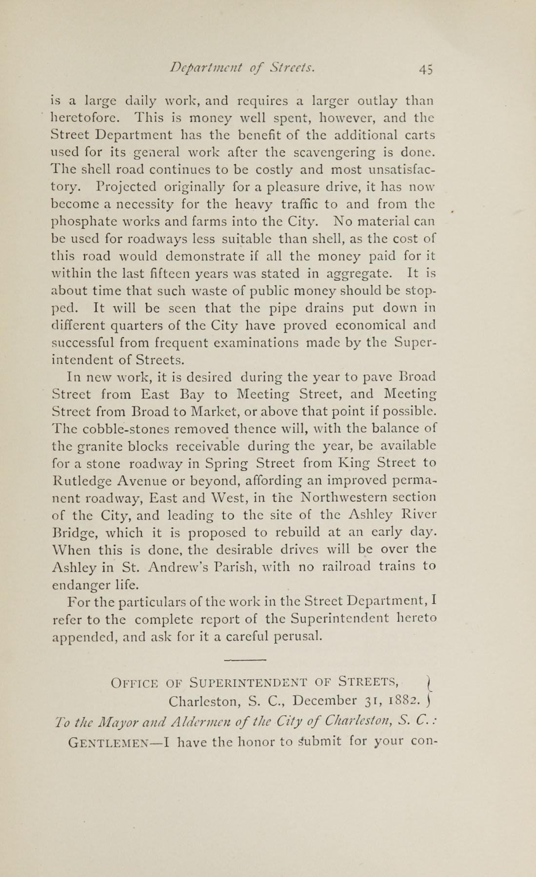 Charleston Yearbook, 1882, page 45