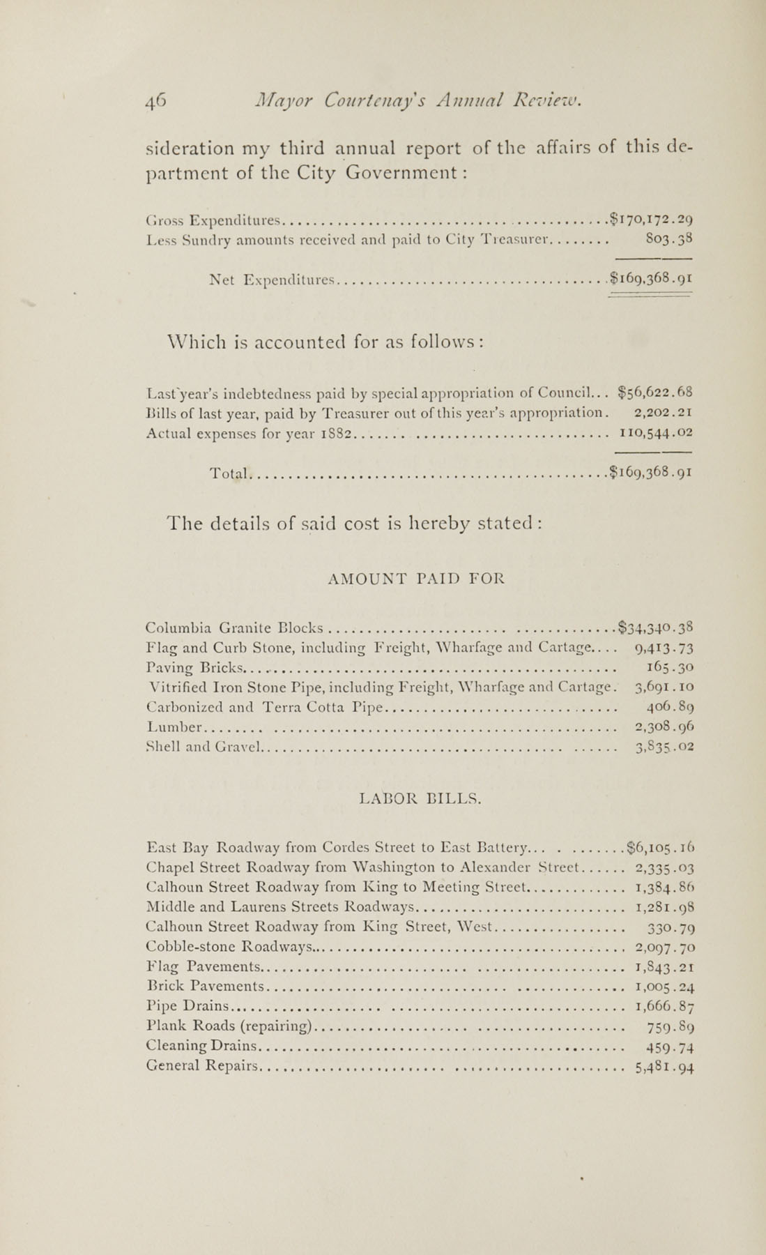 Charleston Yearbook, 1882, page 46