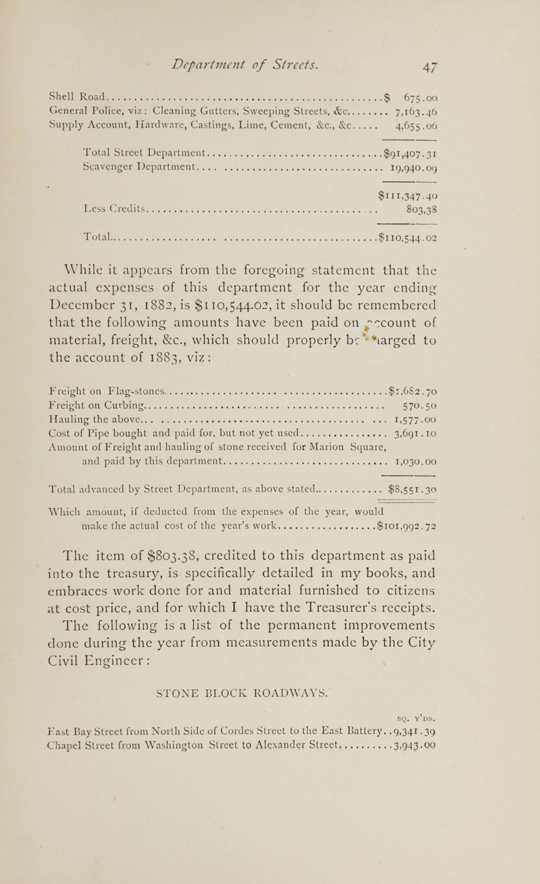 Charleston Yearbook, 1882, page 47