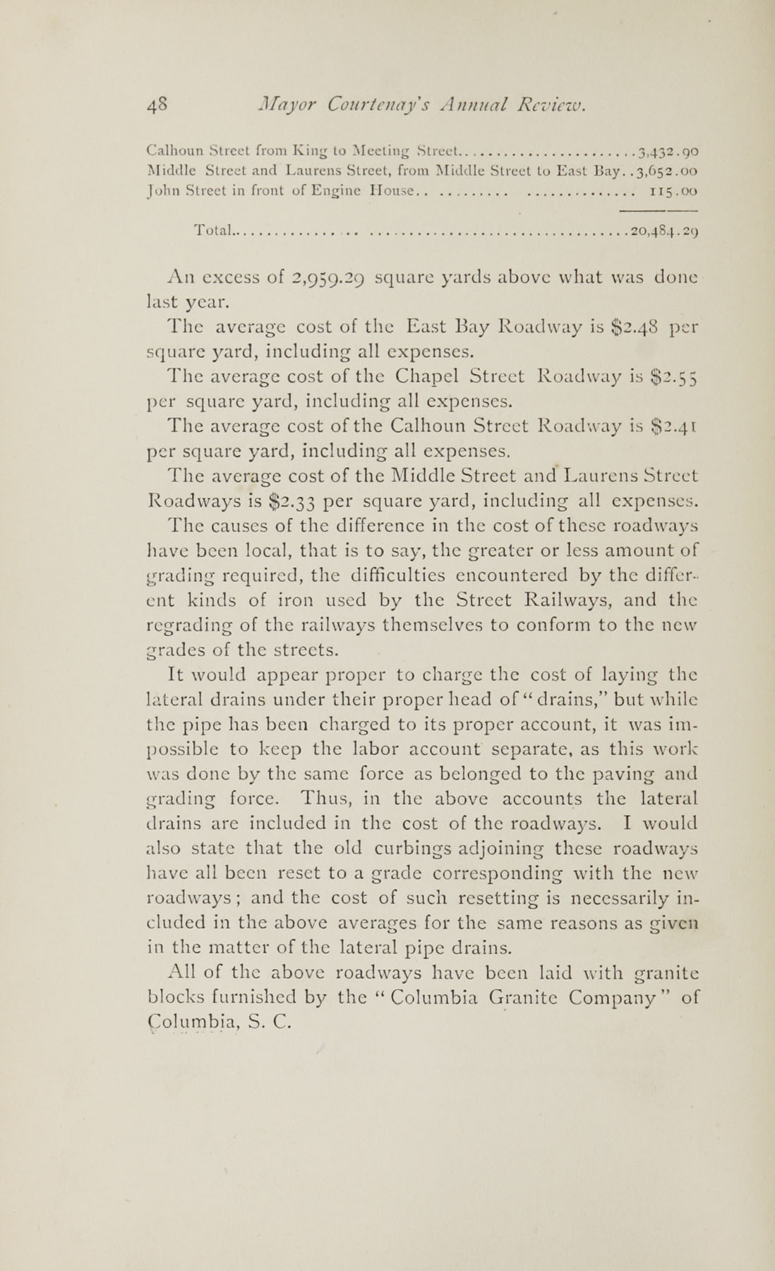 Charleston Yearbook, 1882, page 48