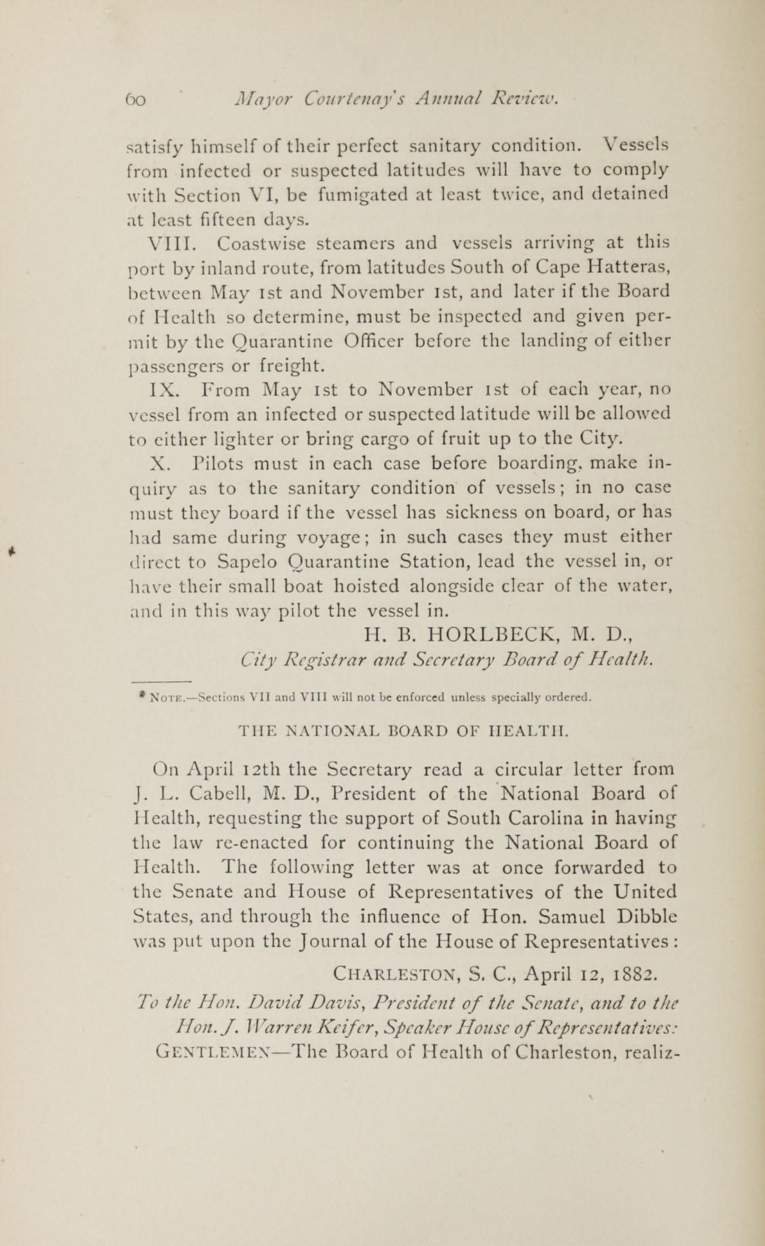Charleston Yearbook, 1882, page 60