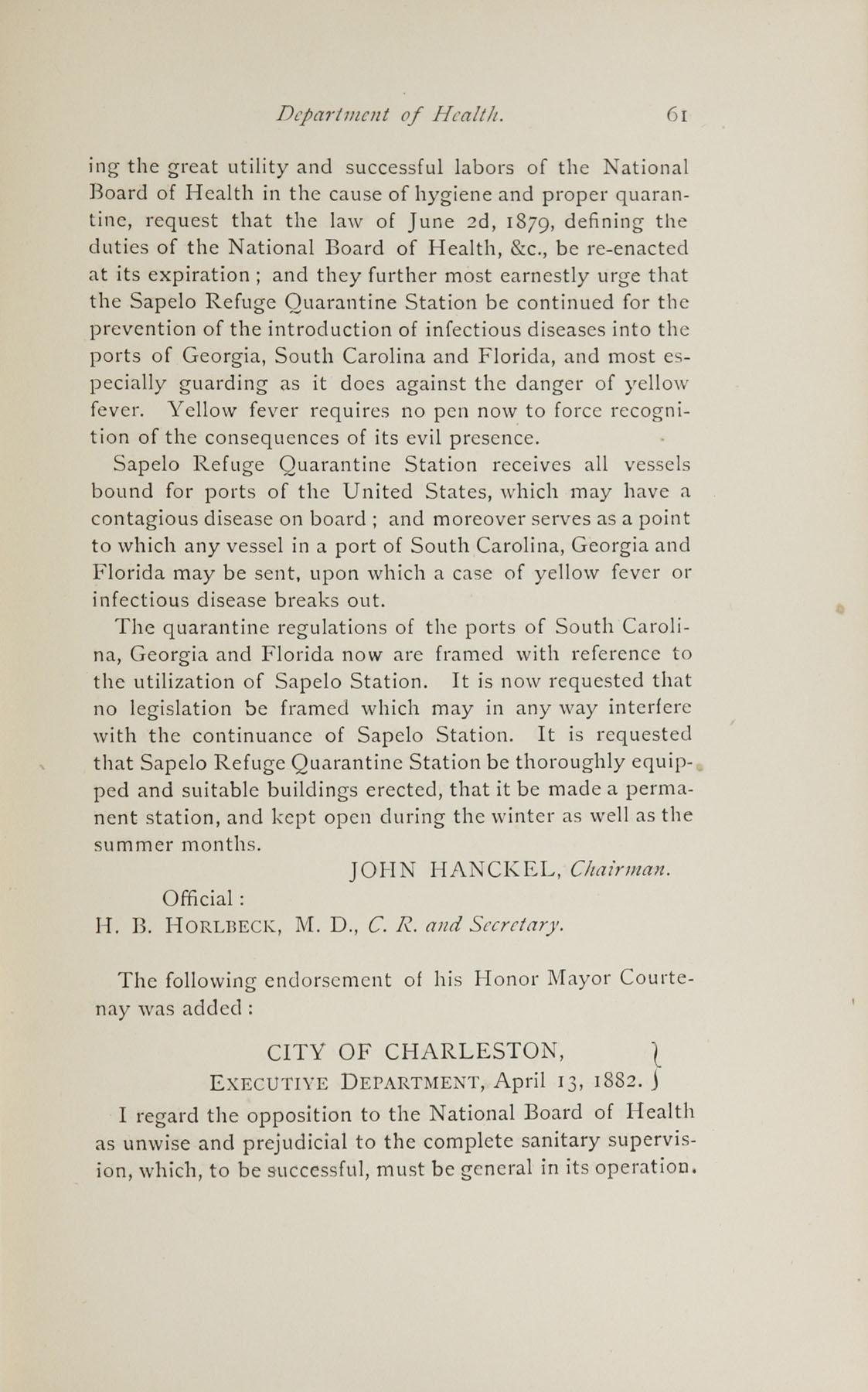 Charleston Yearbook, 1882, page 61