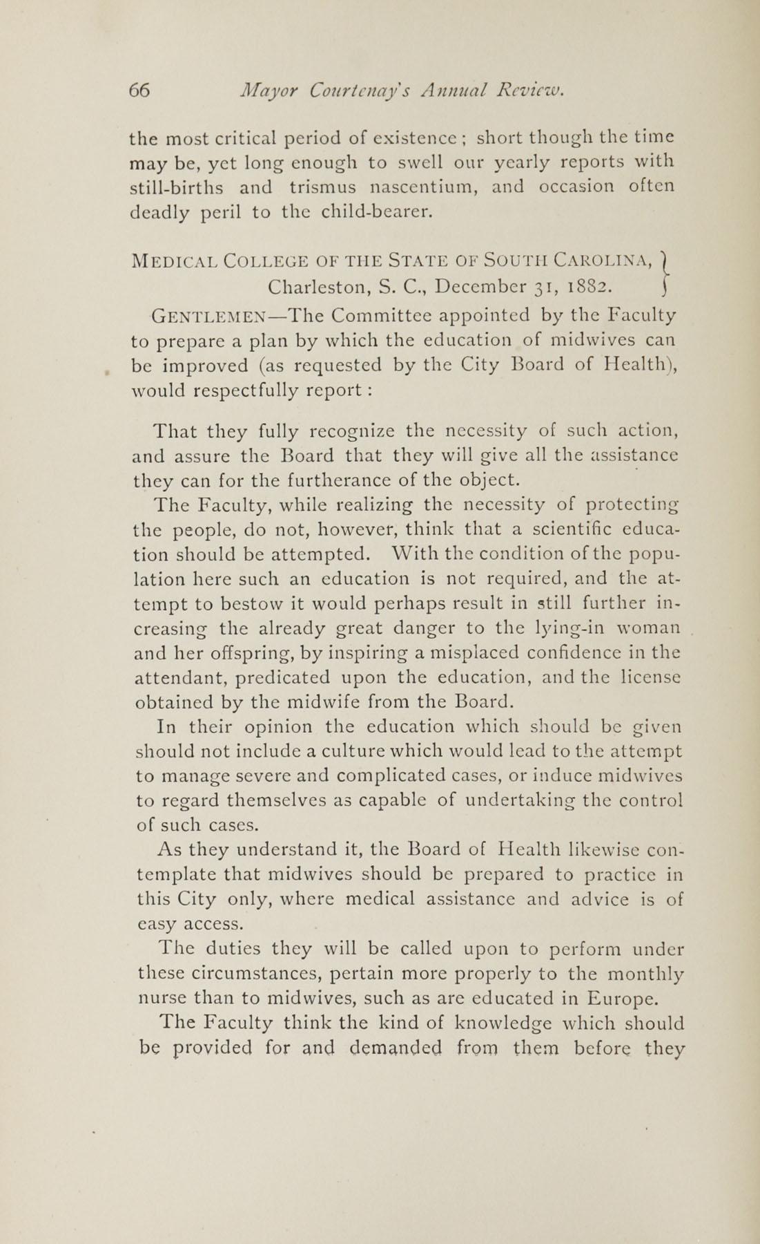 Charleston Yearbook, 1882, page 66
