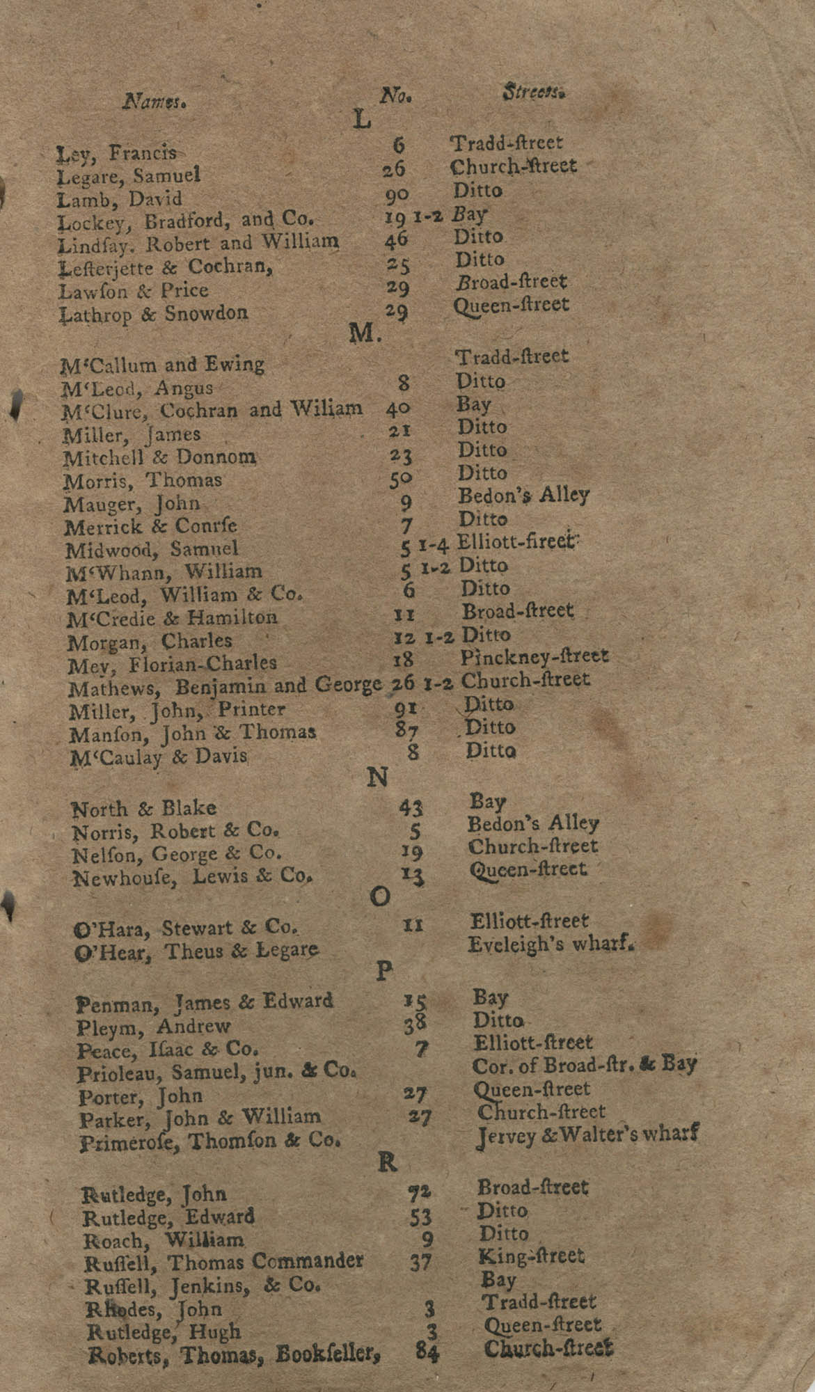 The South-Carolina and Georgia Almanack, For the Year of Our Lord 1785, Page 17