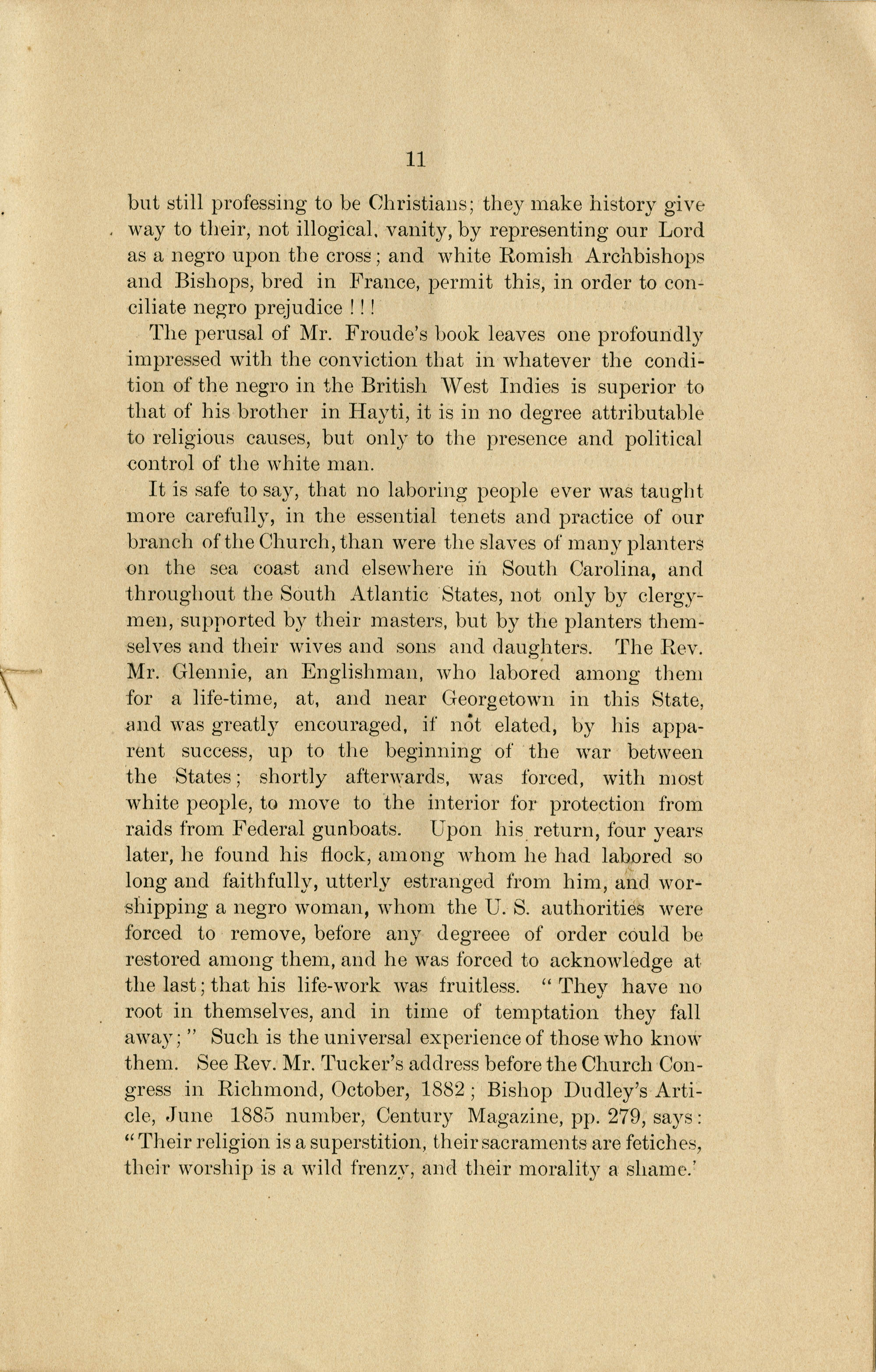 The Negro in his Relations to the Church : historical view / by John S. Fairly. Page 11