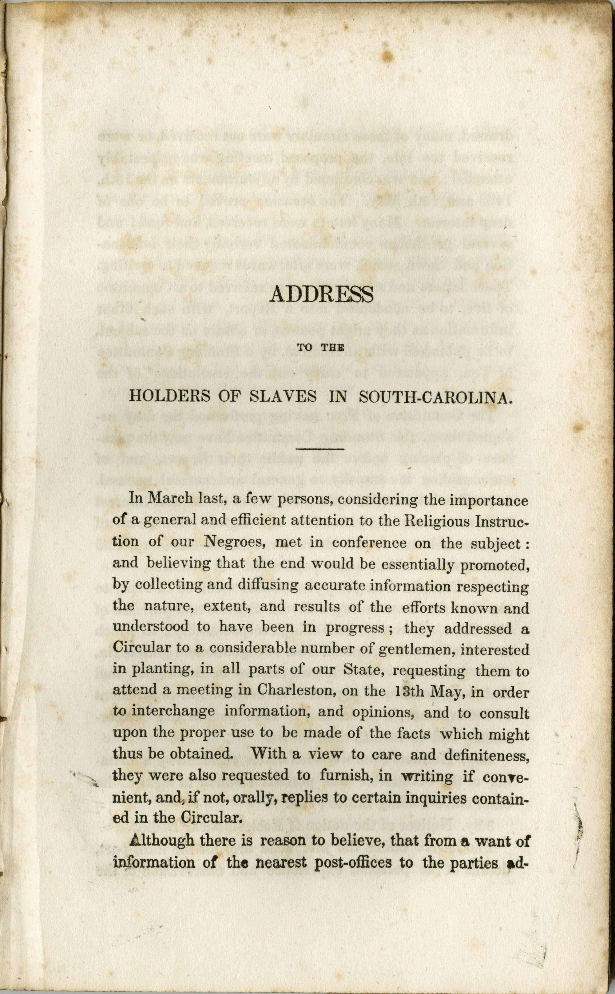 Address to the Holders of Slaves in South-Carolina, Page  3