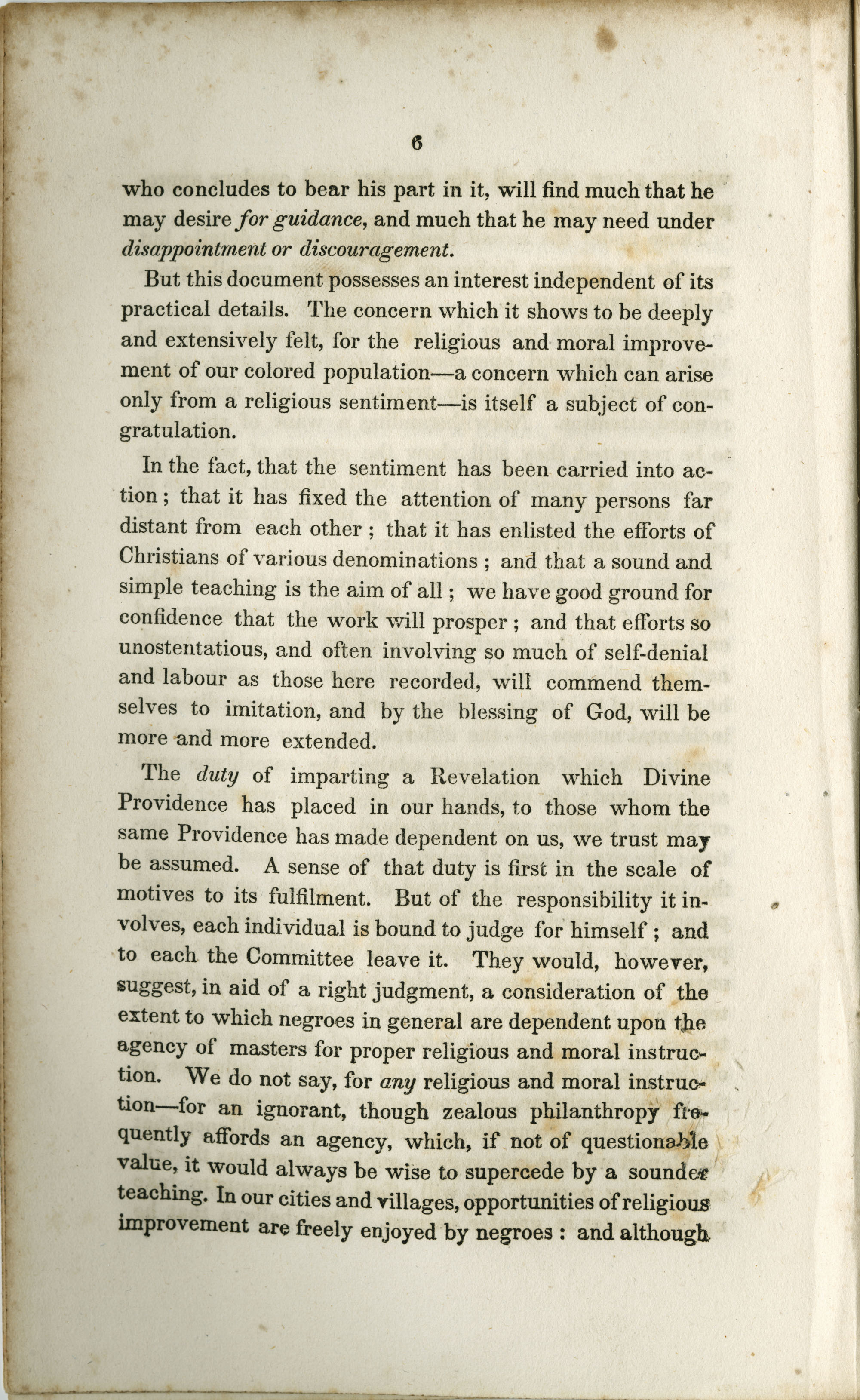Address to the Holders of Slaves in South-Carolina, Page  6