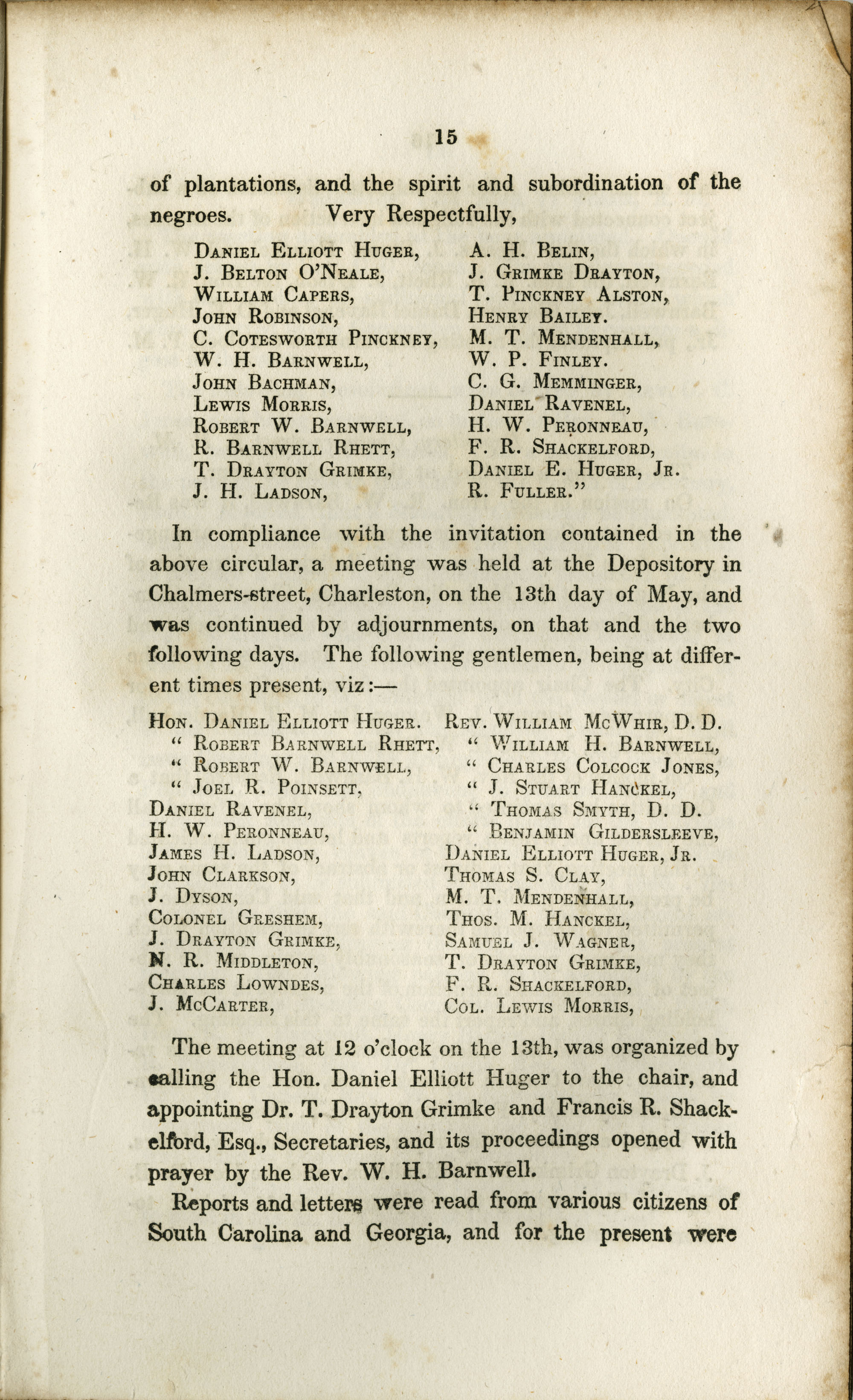 Proceedings of the Meeting, Page 15