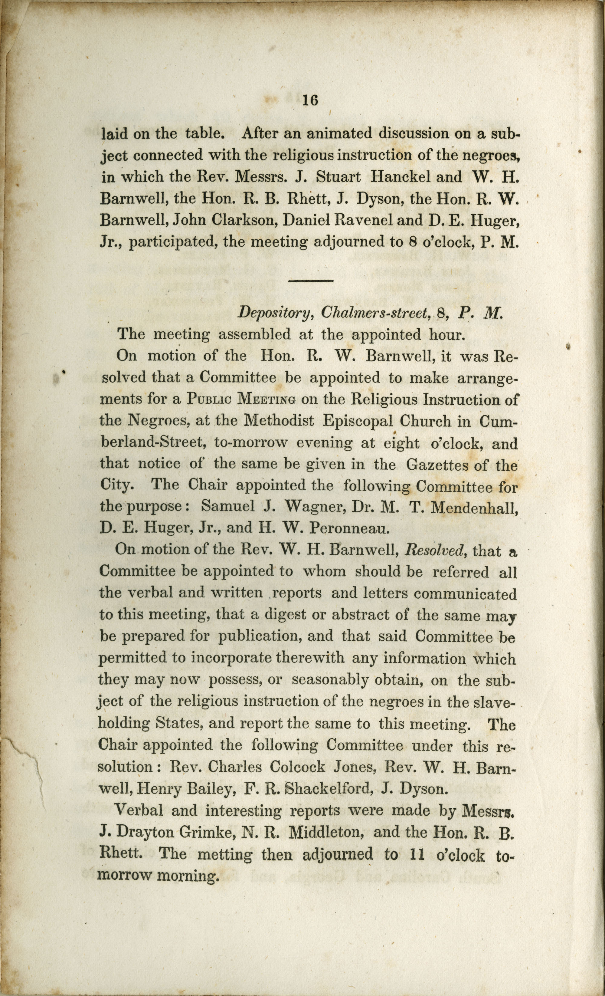 Proceedings of the Meeting, Page 16