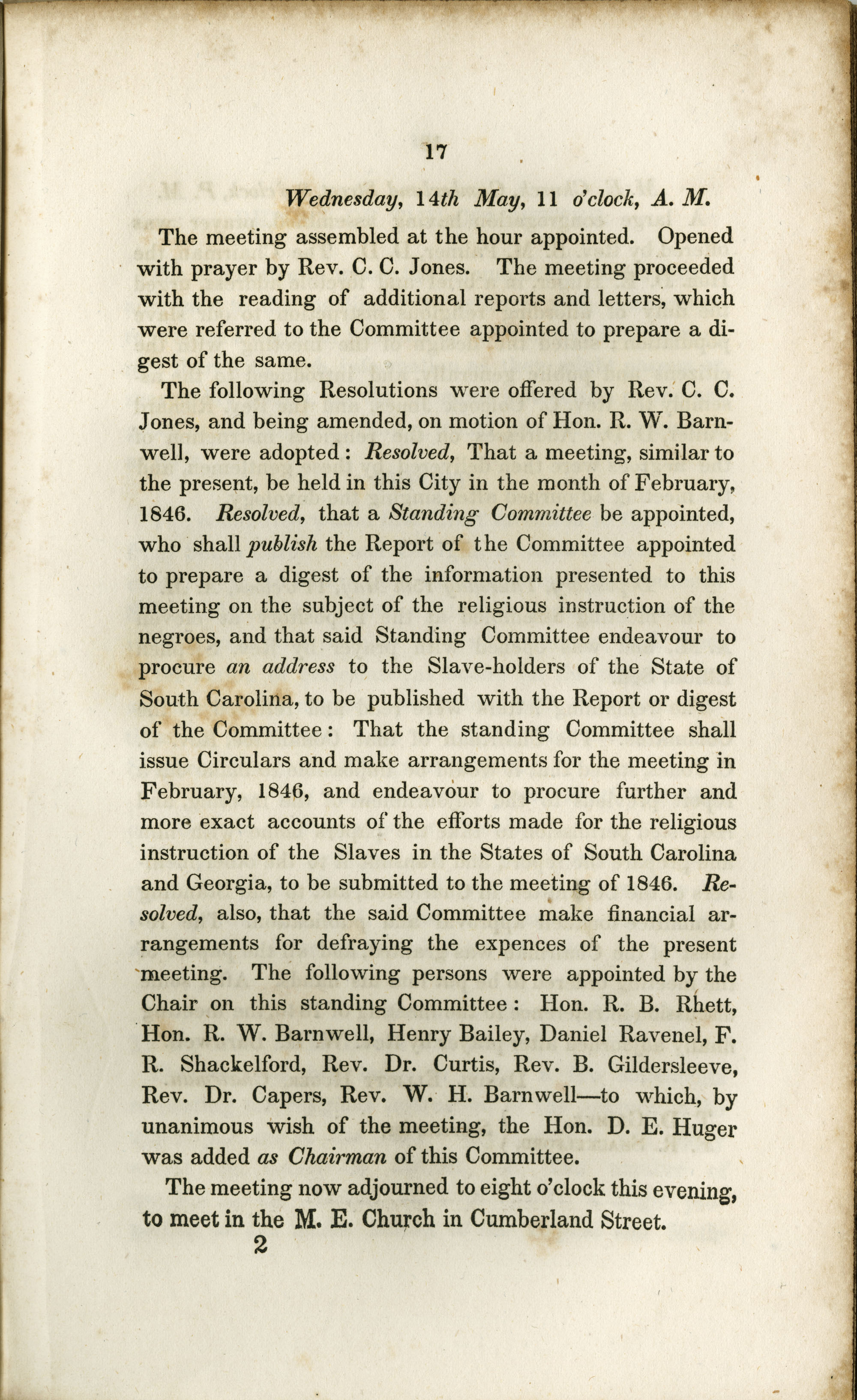Proceedings of the Meeting, Page 17