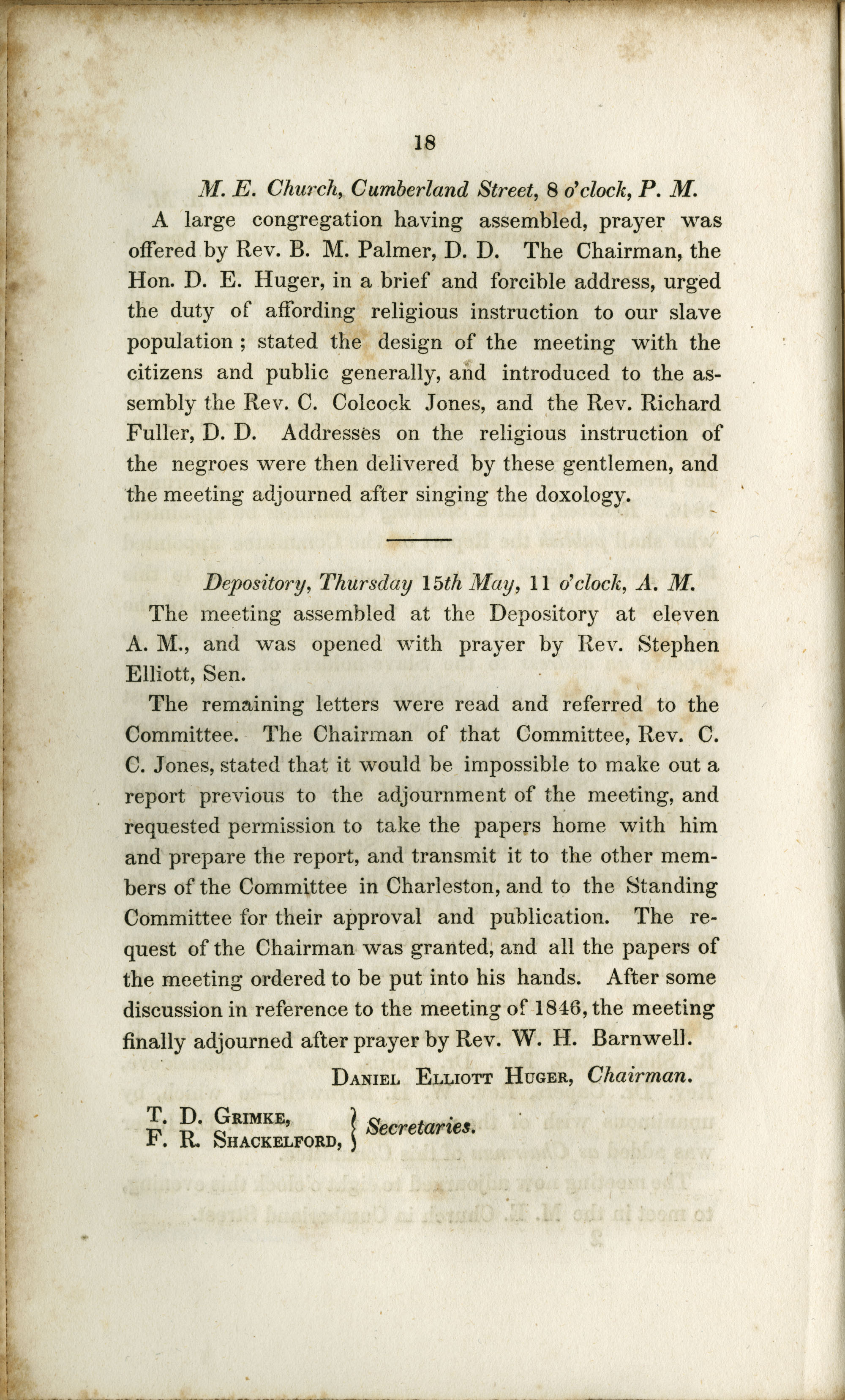 Proceedings of the Meeting, Page 18