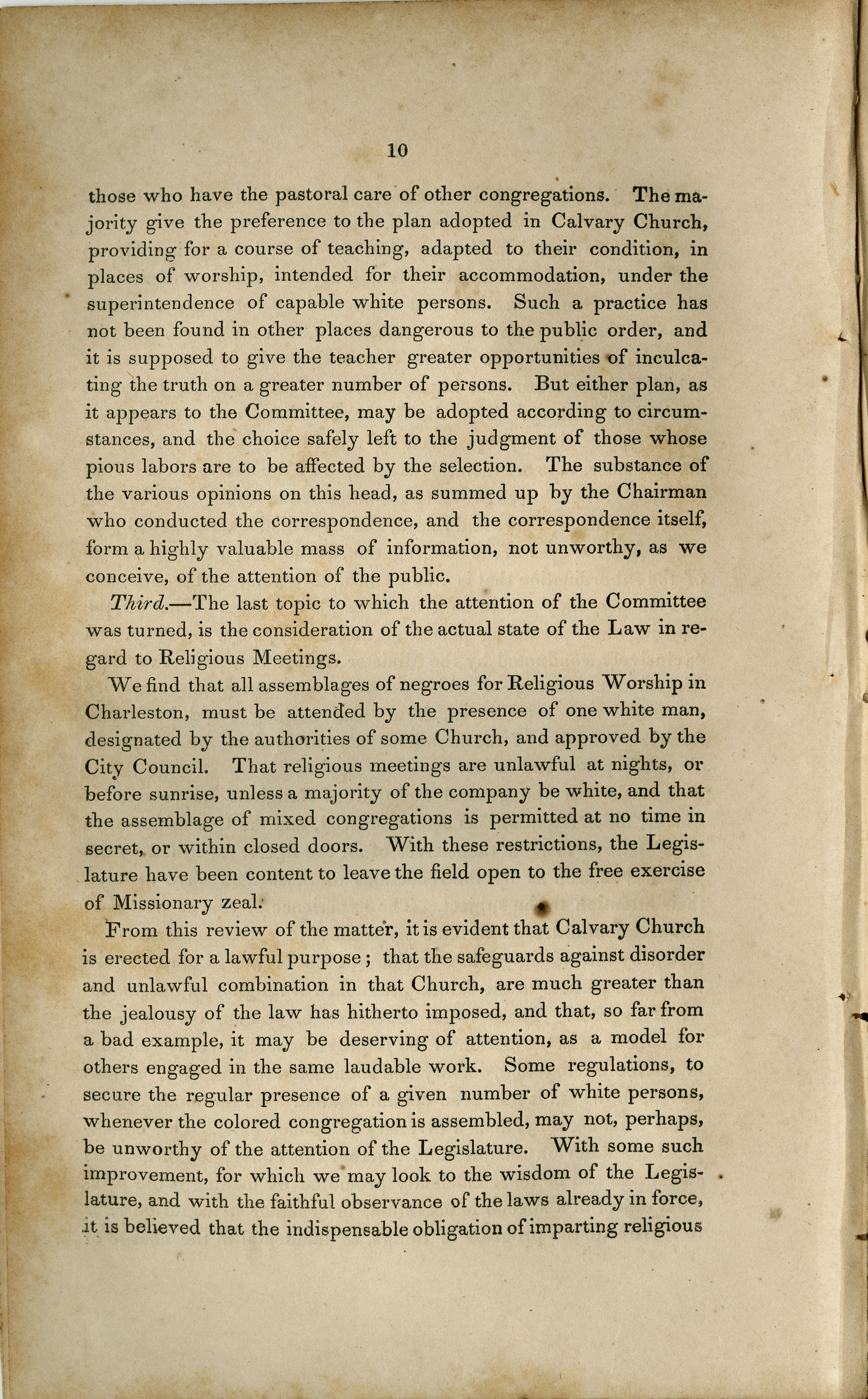 Public Proceedings Relating to Calvary Church, and the Religious Instruction of Slaves. Public Meeting, Page 10