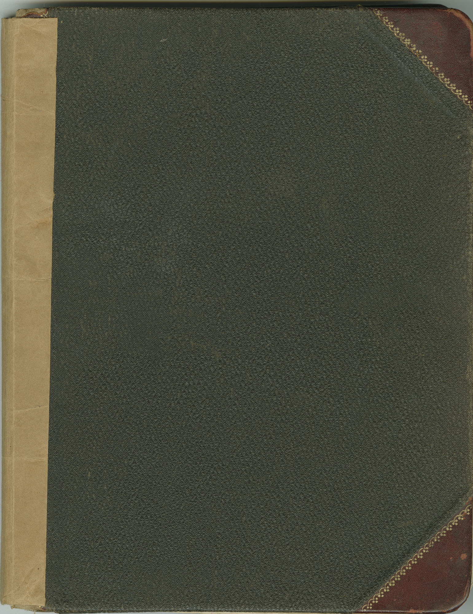 1. Front Cover of Daughters of Century Society and Brown Fellowship Society Arrear Book and Minutes, 1904-1975.