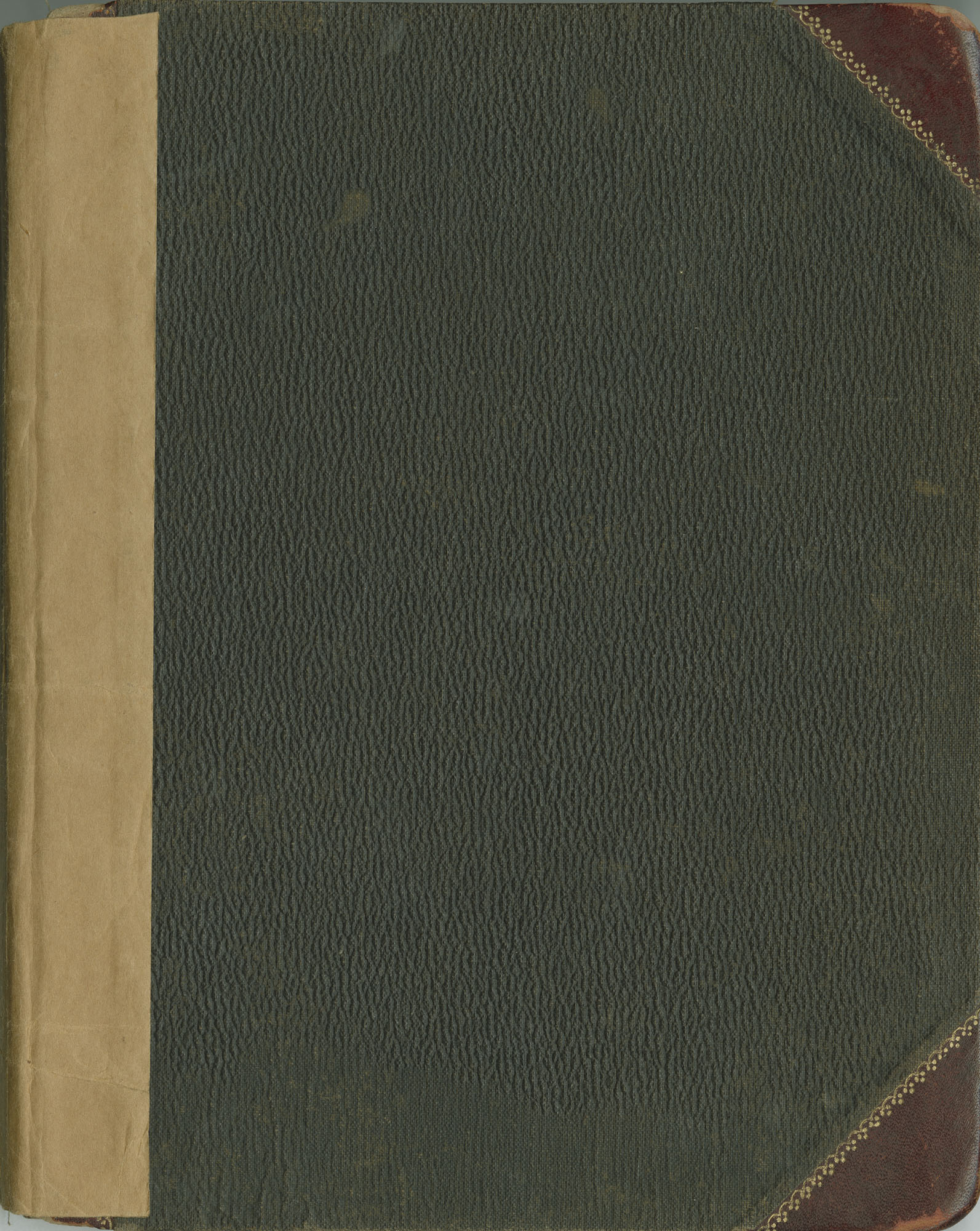 60. Back Cover of Daughters of Century Society and Brown Fellowship Society Account Book and Minutes, 1904-1975.