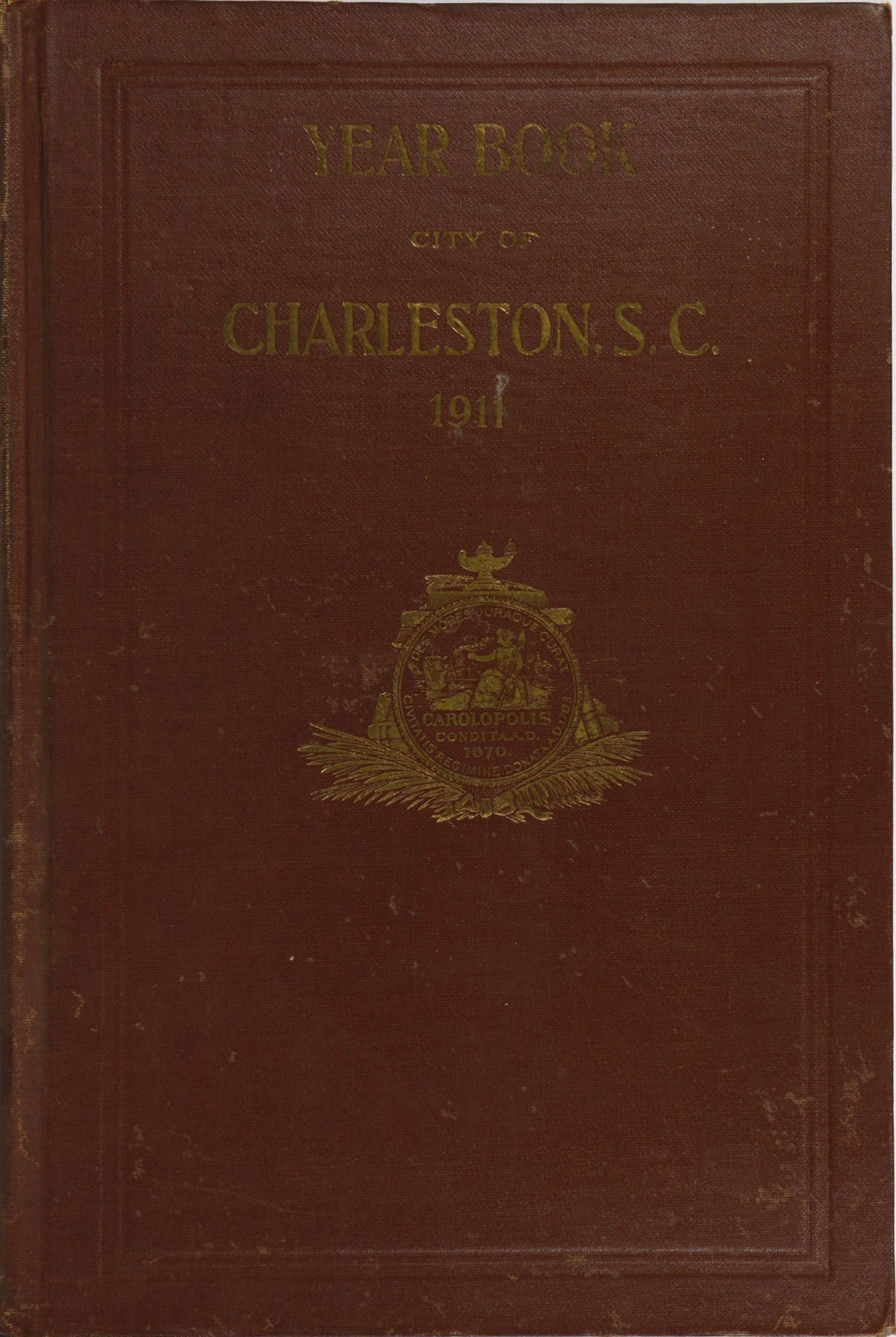 Charleston Yearbook, 1911, cover