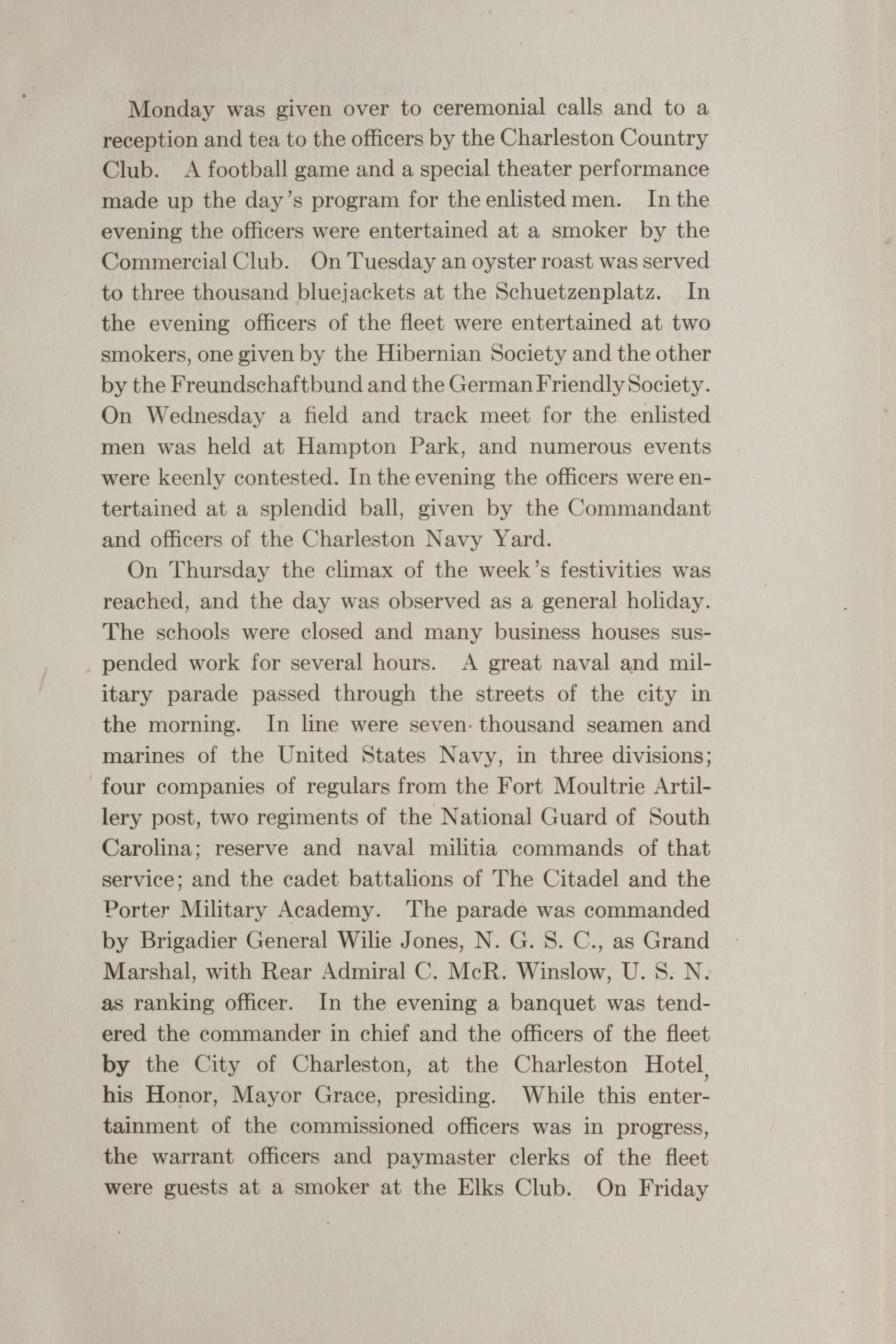 Charleston Yearbook, 1912, insert