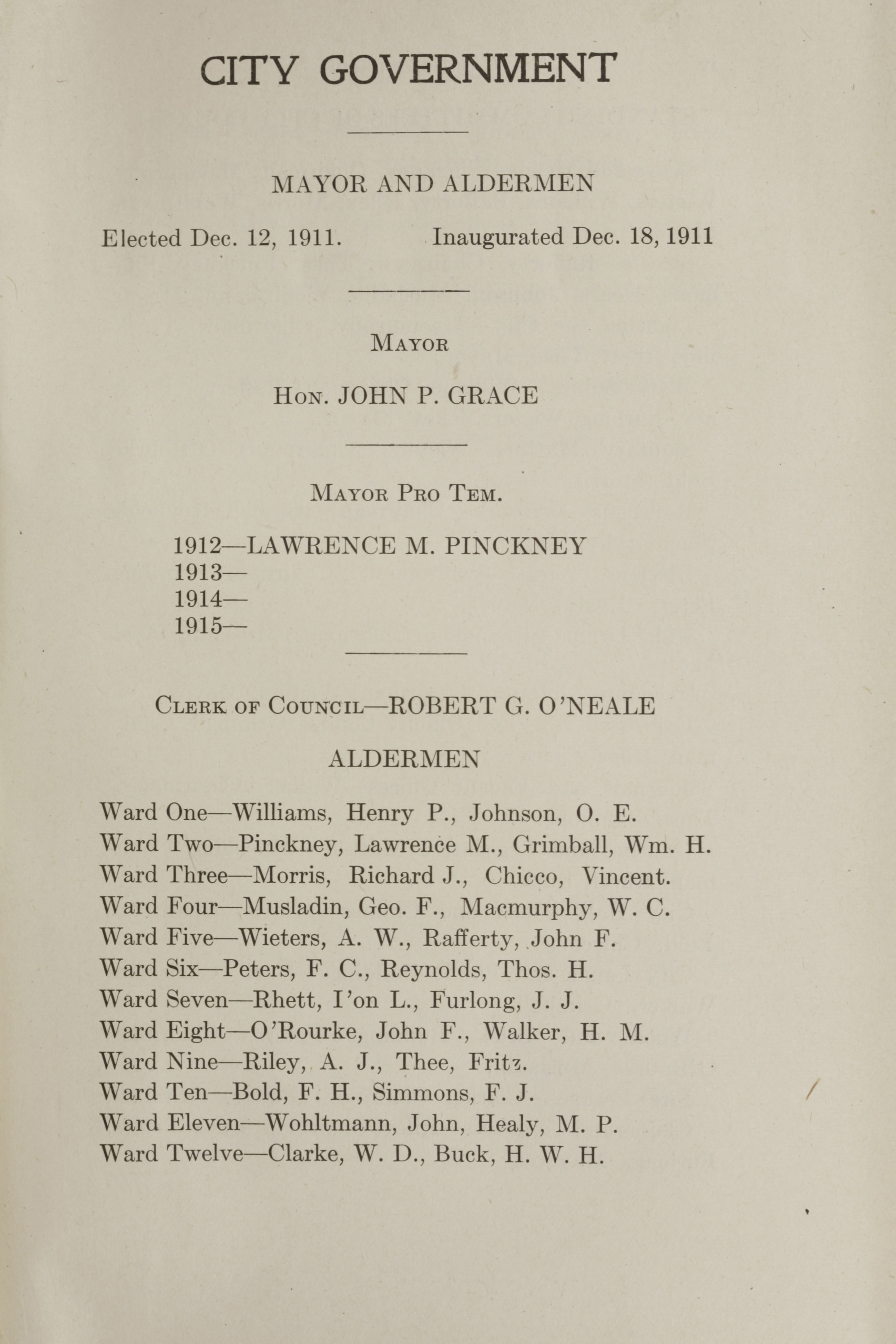 Charleston Yearbook, 1912, page iii