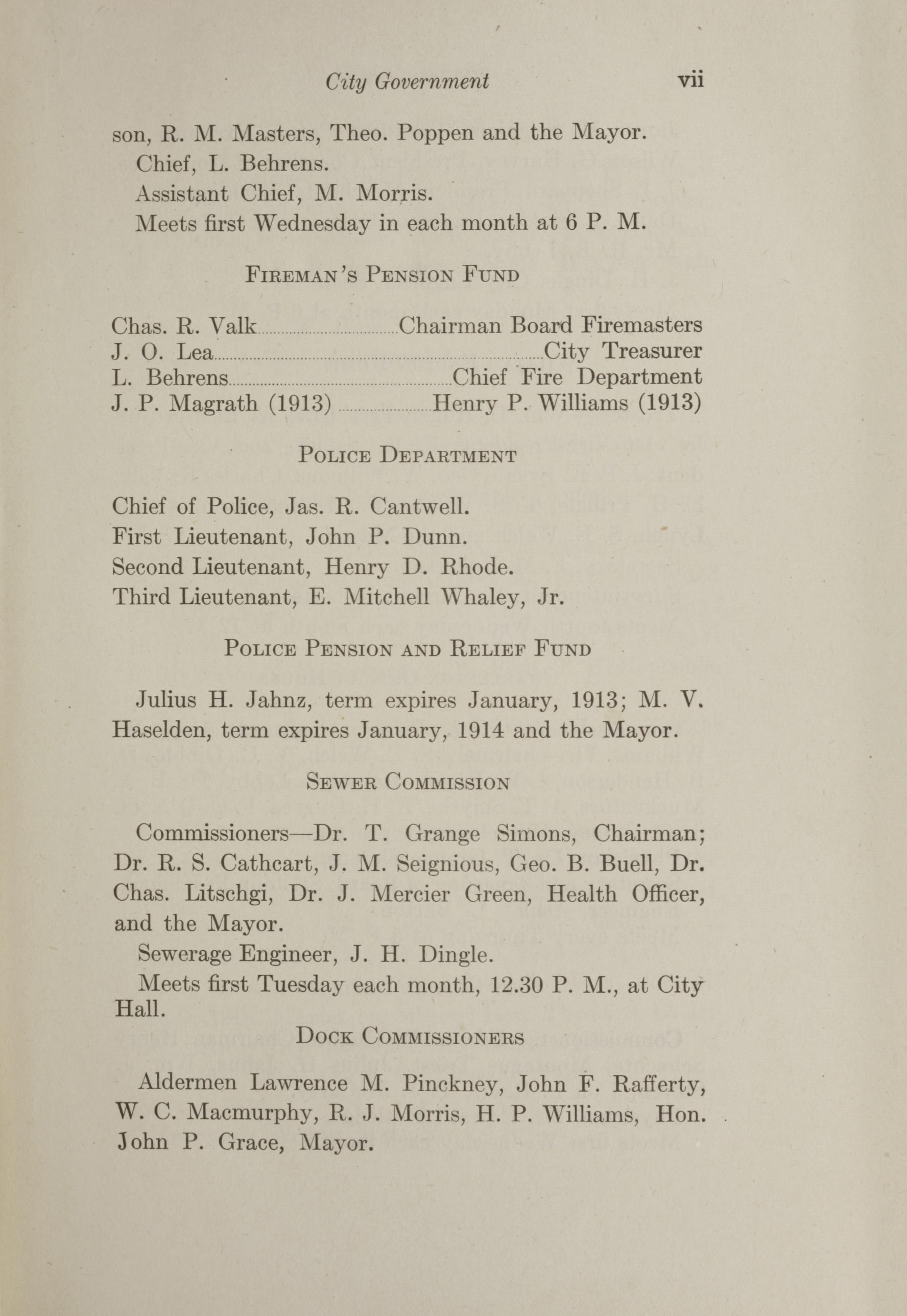 Charleston Yearbook, 1912, page vii