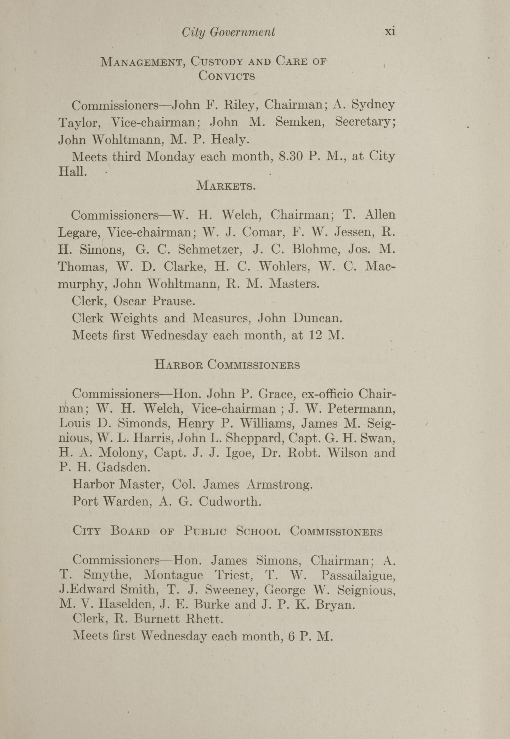 Charleston Yearbook, 1912, page xi